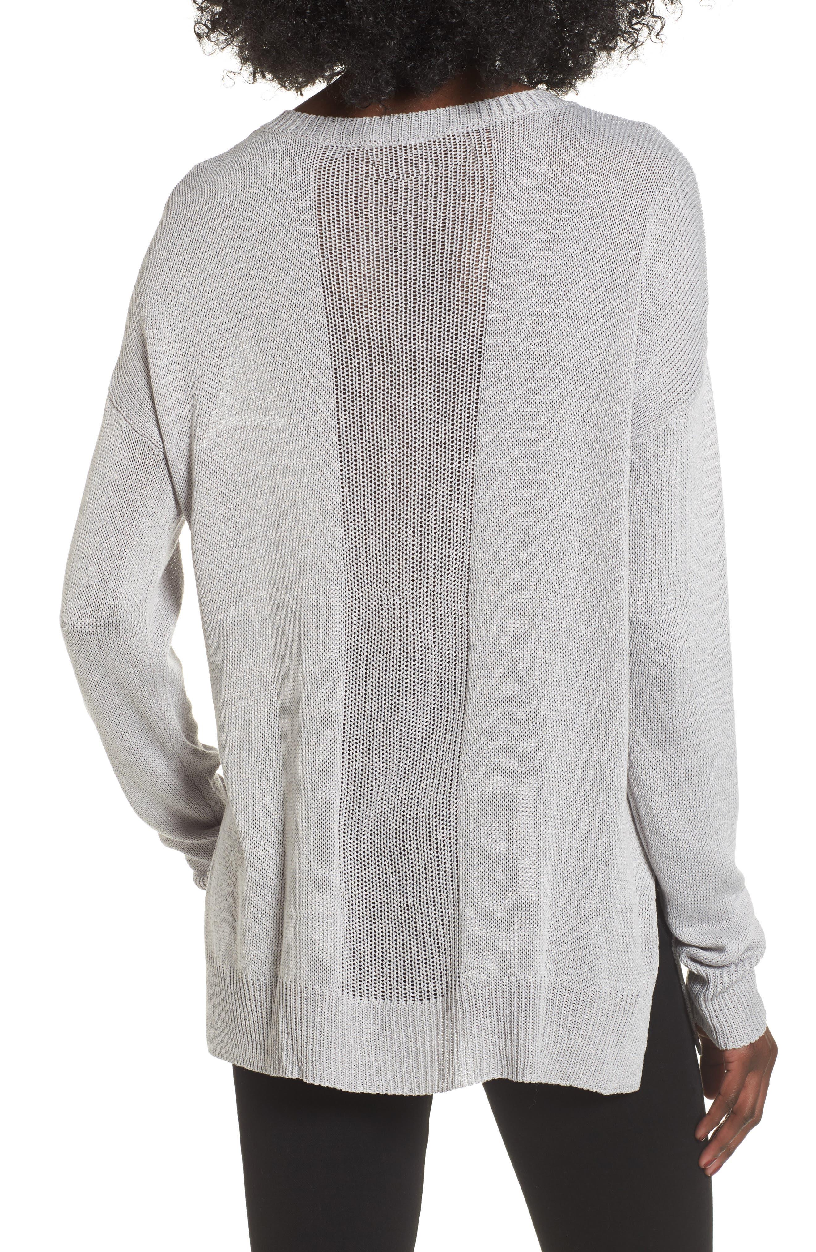 Open Lines V-Neck Sweater,                             Alternate thumbnail 2, color,                             020