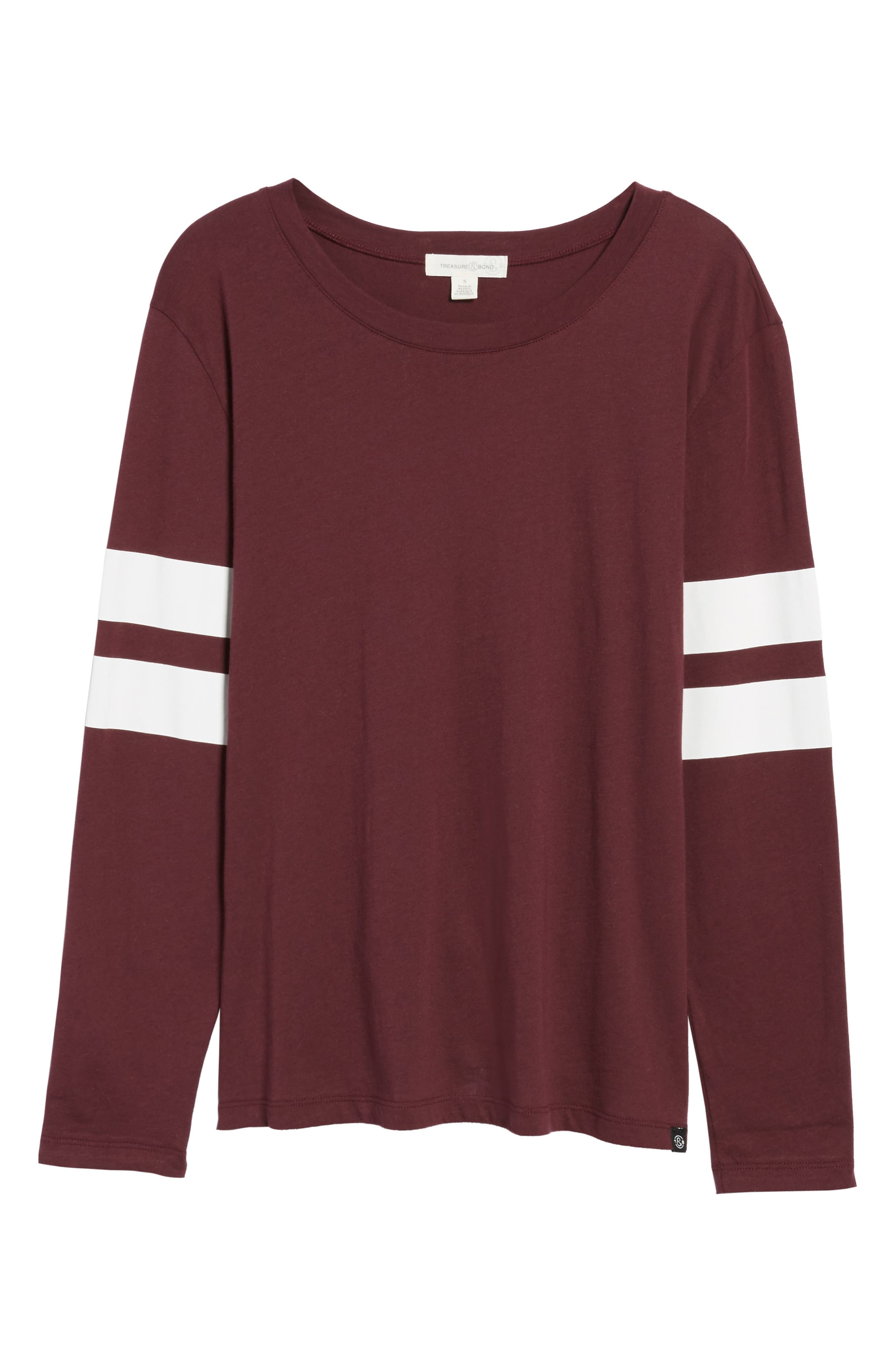 Varsity Stripe Cotton Tee,                             Alternate thumbnail 120, color,