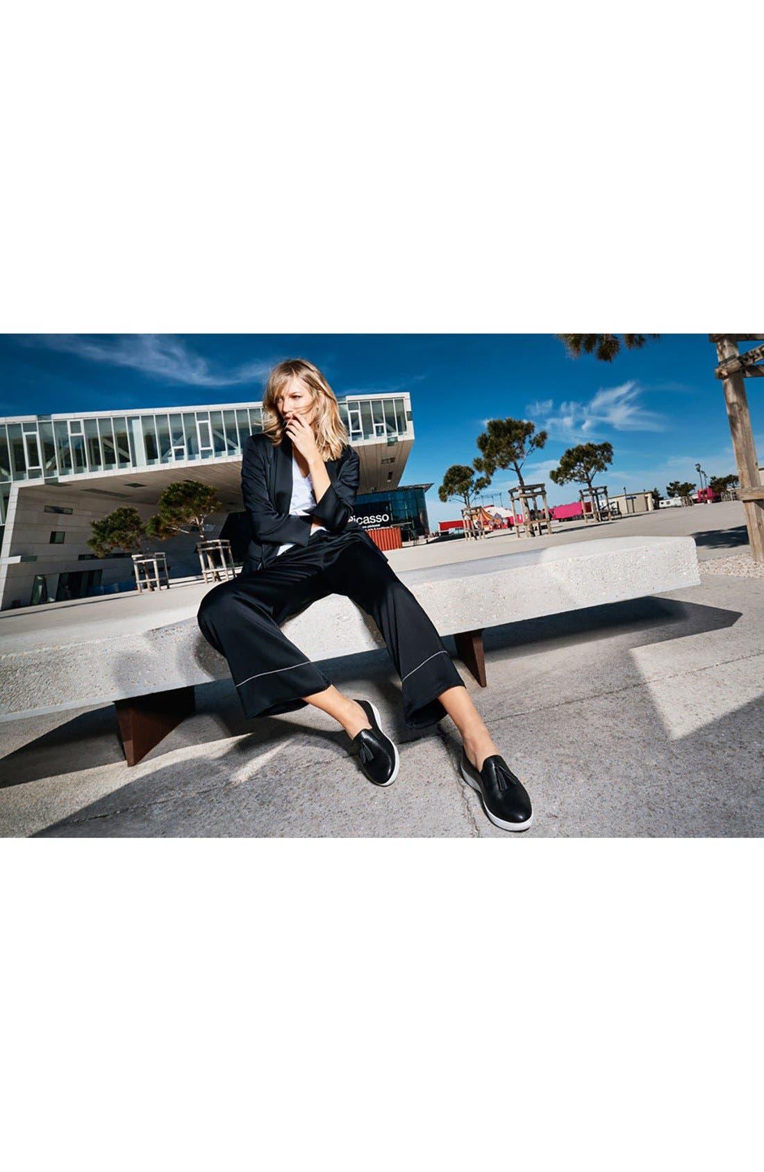 Tassle Superskate Wedge Sneaker,                             Alternate thumbnail 6, color,                             001