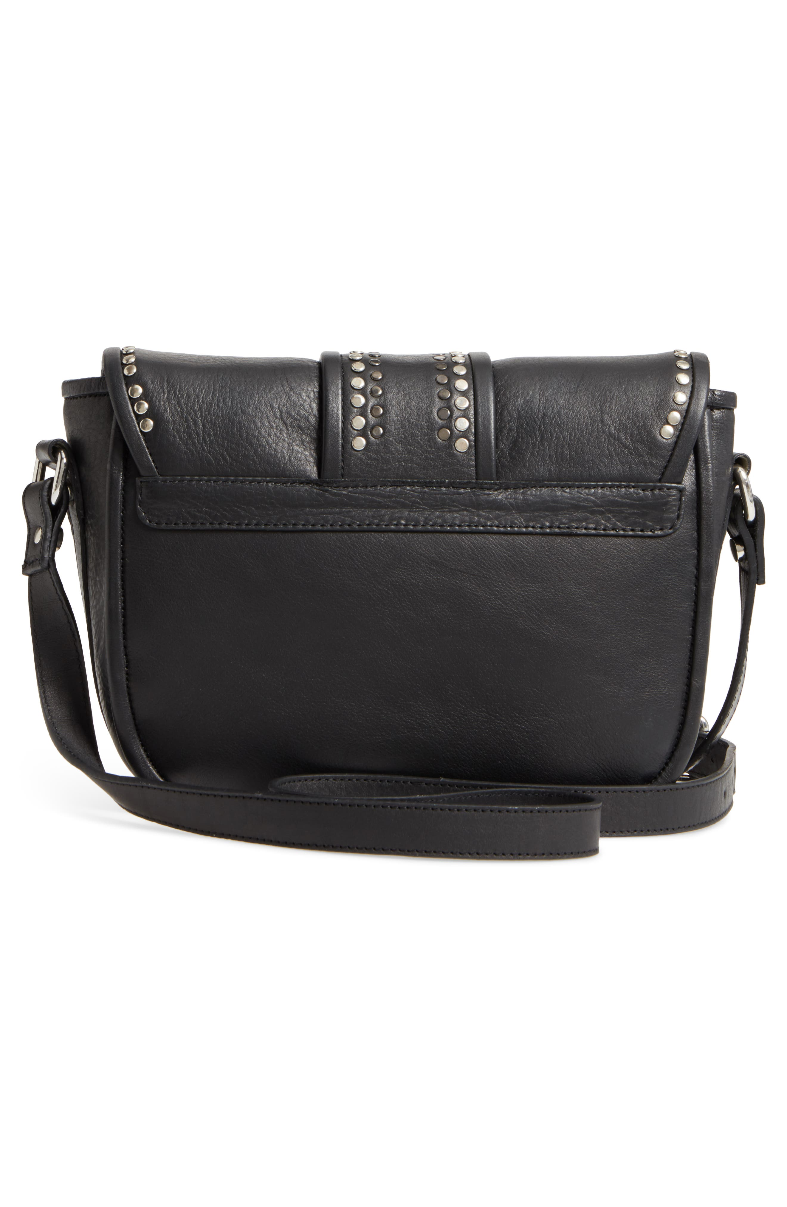 Premium Leather Studded Shoulder Bag,                             Alternate thumbnail 7, color,