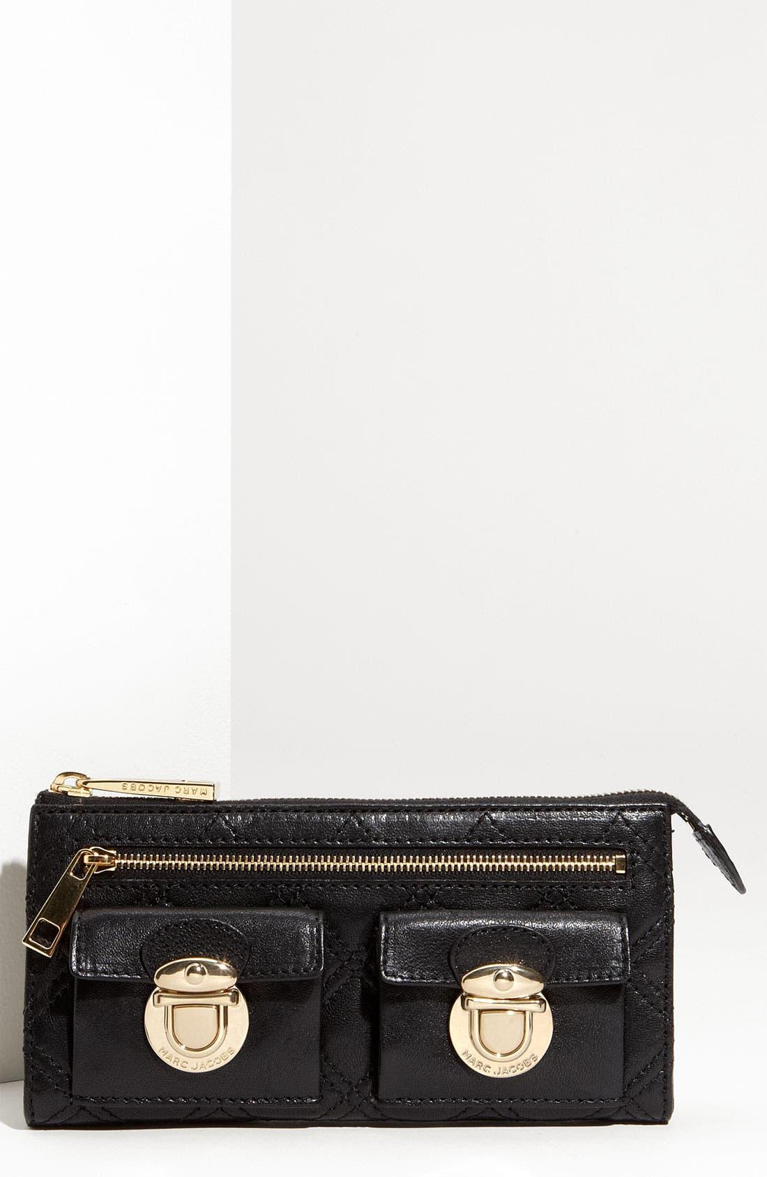 Zip Clutch Wallet,                             Main thumbnail 1, color,                             001