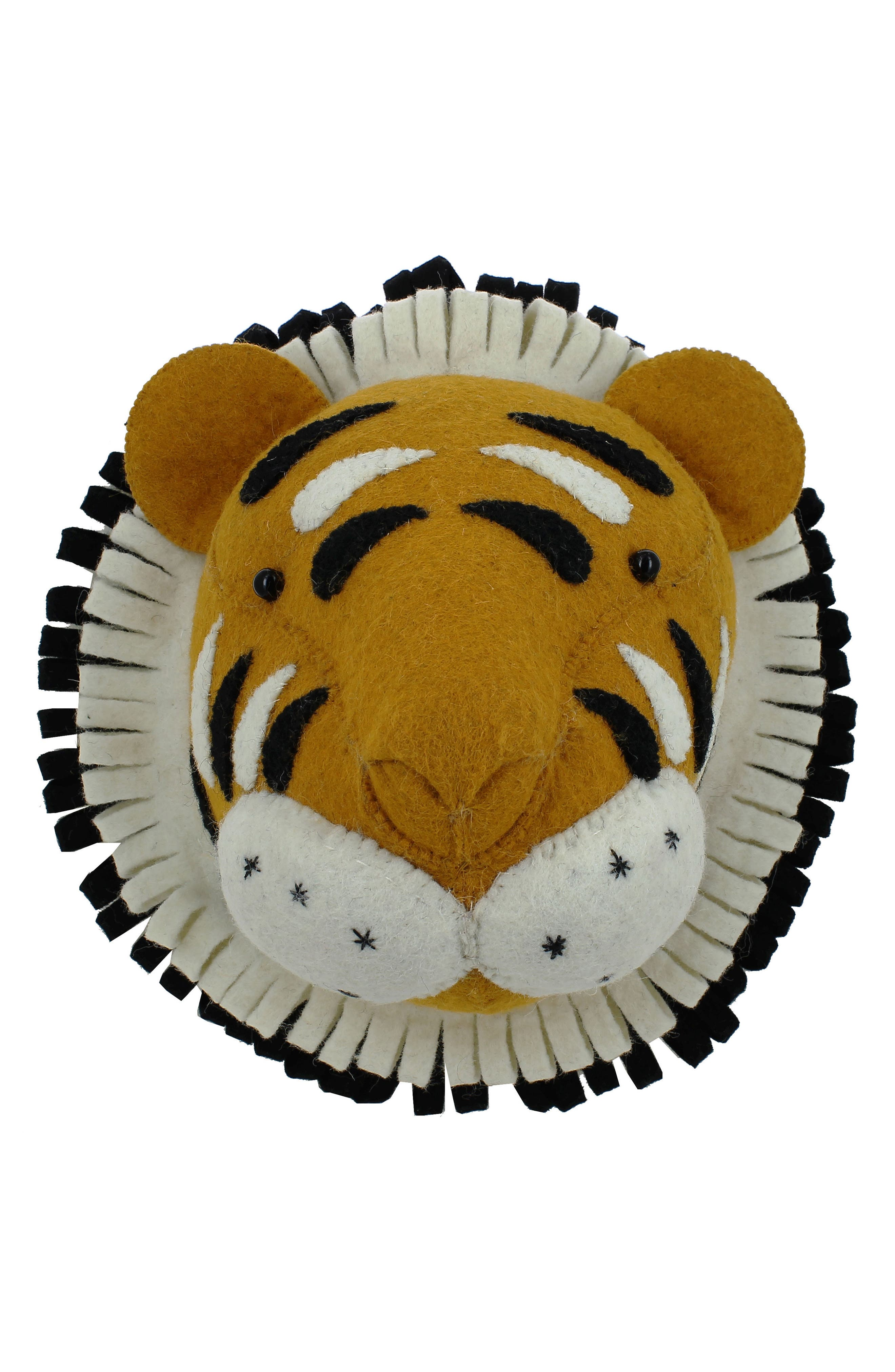 Mini Tiger Head Wall Art,                         Main,                         color, ORANGE