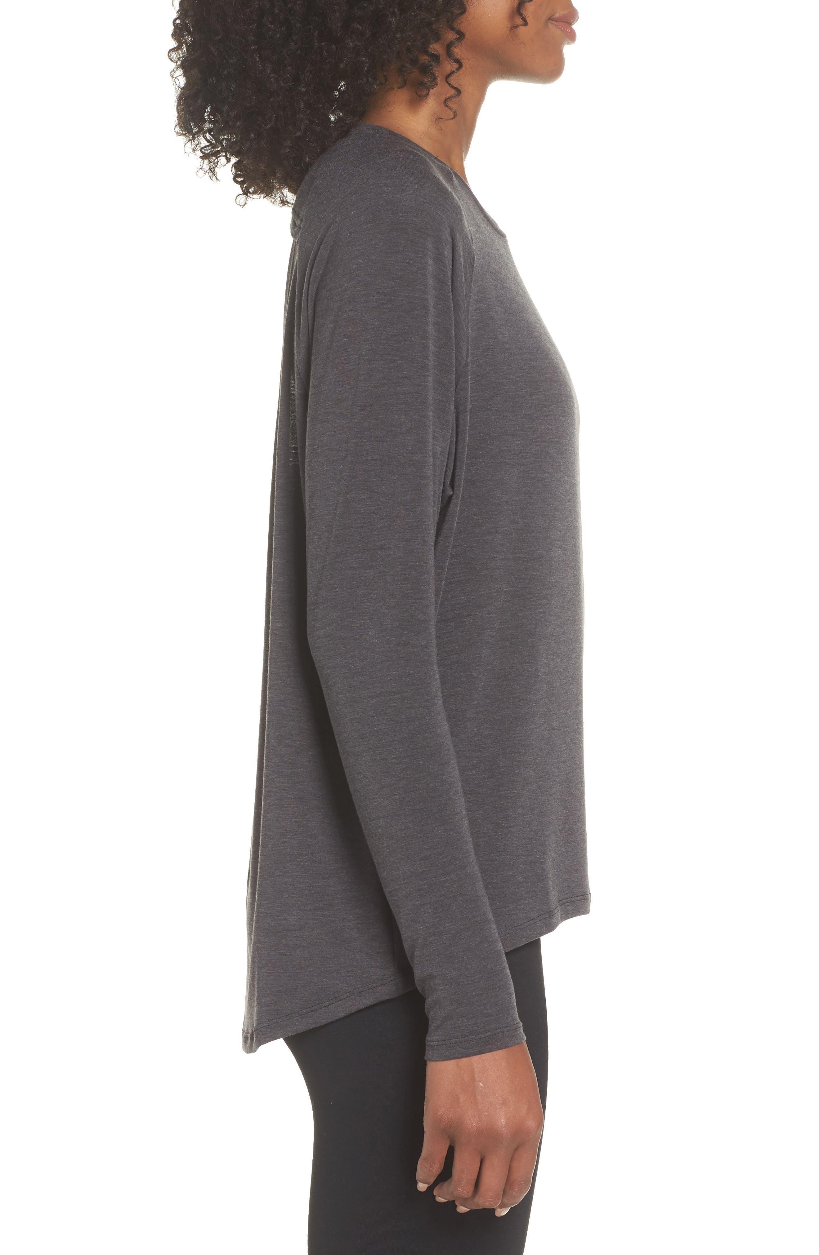NEW BALANCE,                             Release Open Back Long Sleeve Sweatshirt,                             Alternate thumbnail 3, color,                             008