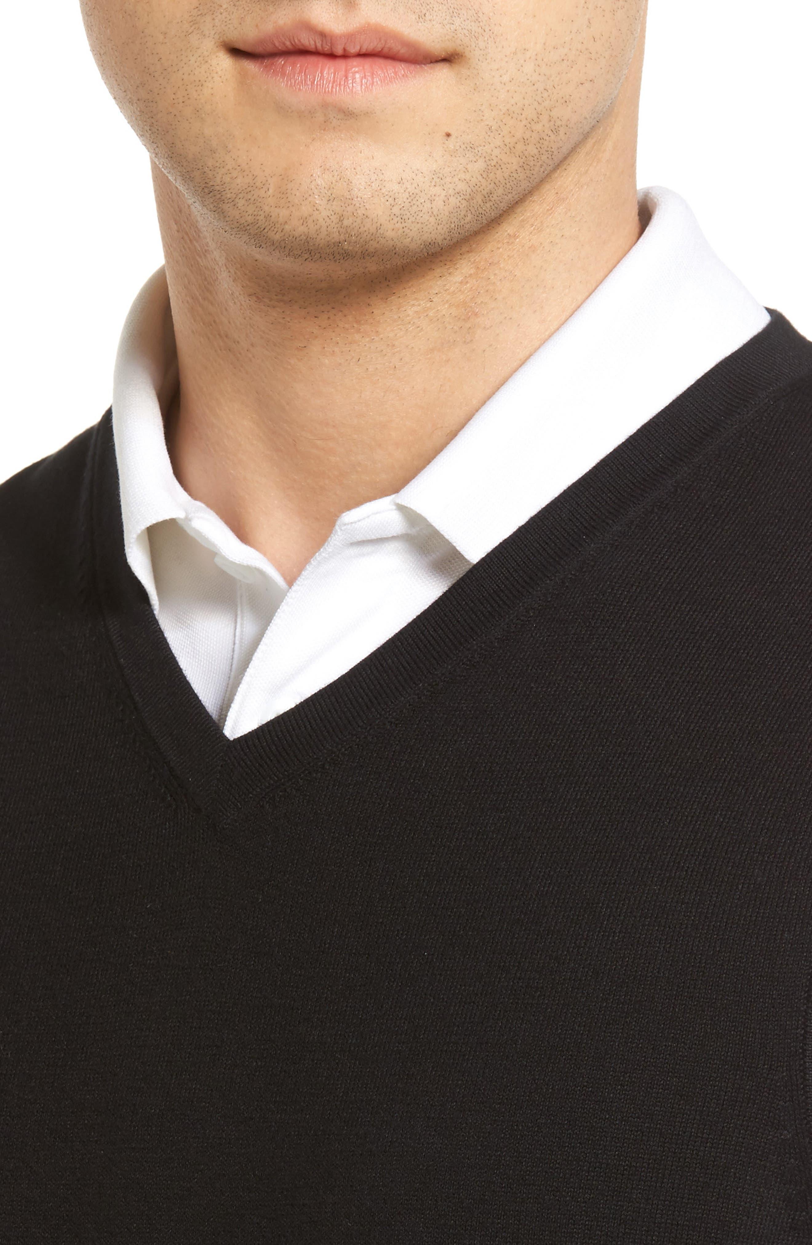 Lakemont V-Neck Sweater Vest,                             Alternate thumbnail 4, color,                             BLACK