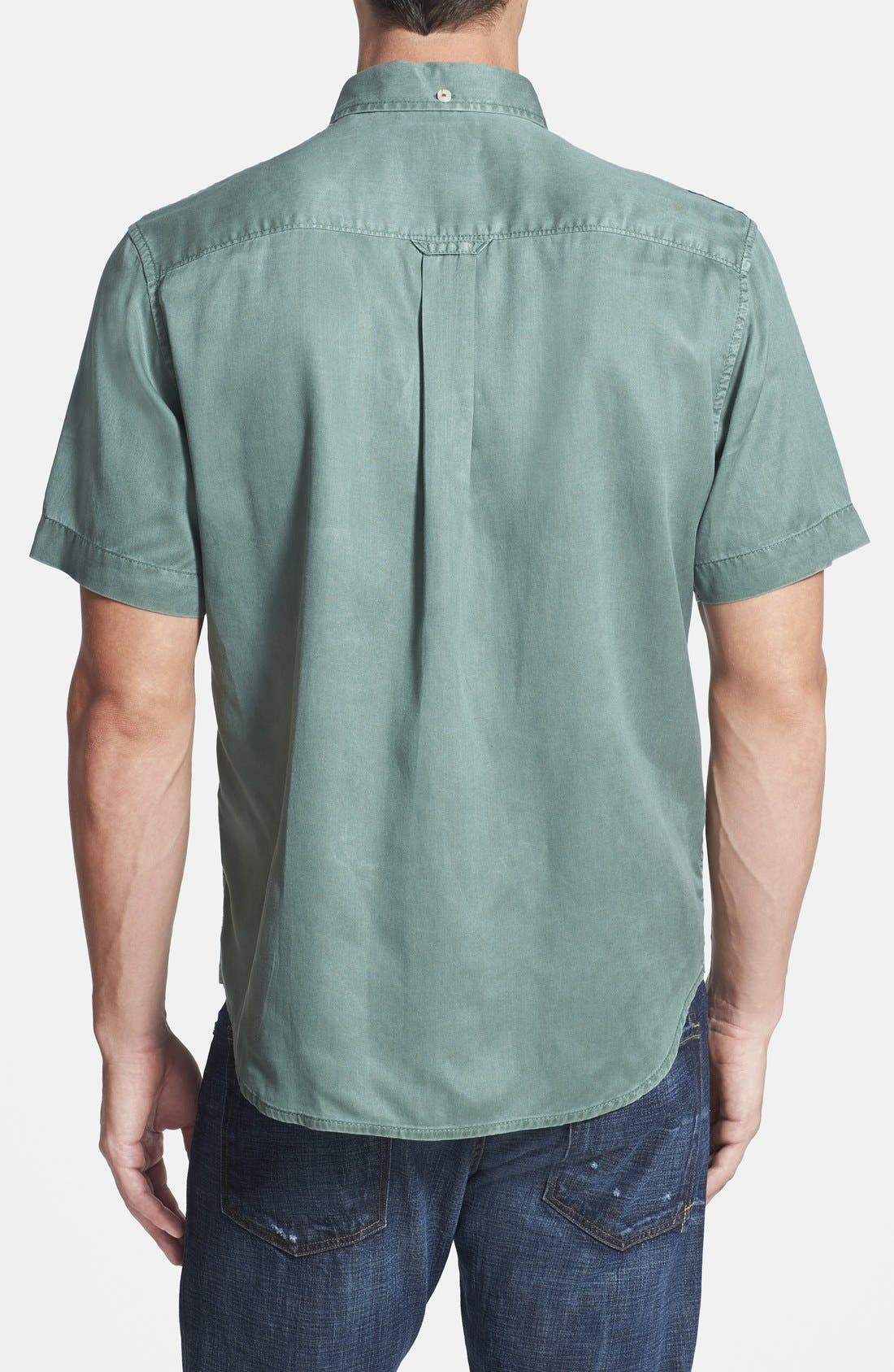'New Twilly' Island Modern Fit Short Sleeve Twill Shirt,                             Alternate thumbnail 32, color,