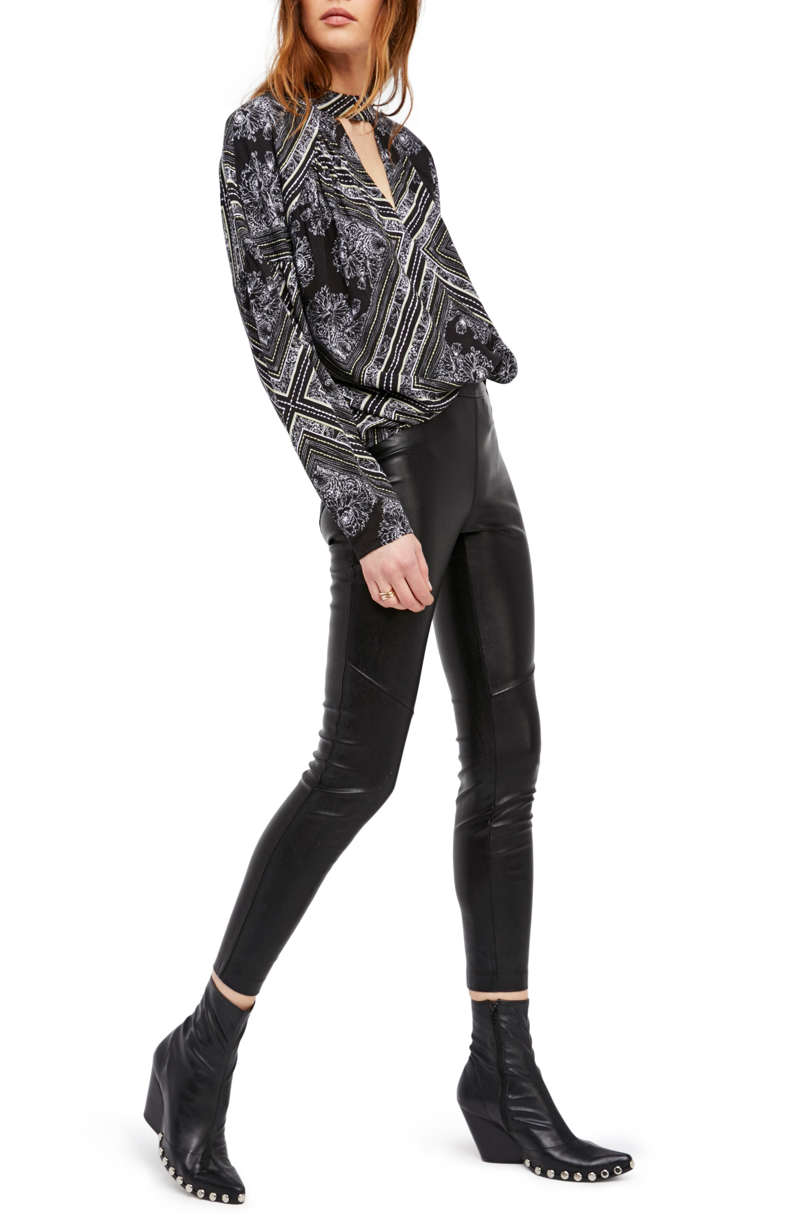 Faux Leather Leggings,                             Main thumbnail 2, color,