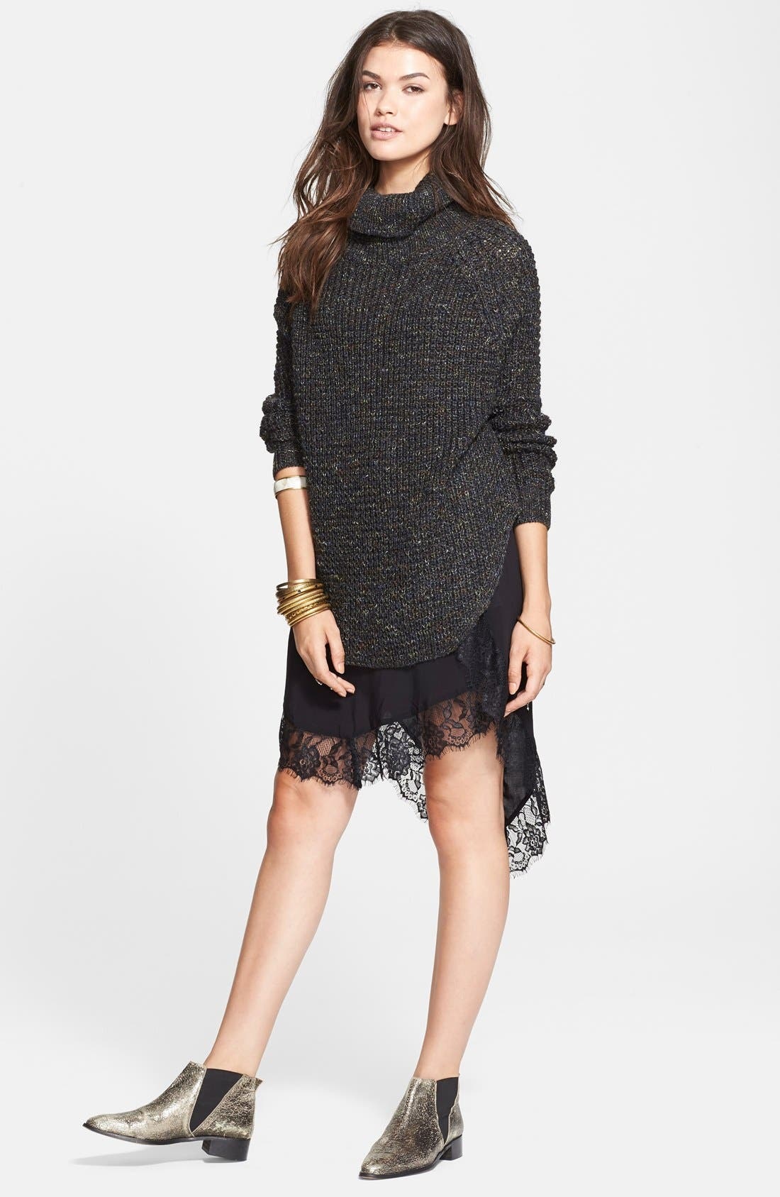 FREE PEOPLE,                             Turtleneck Pullover,                             Alternate thumbnail 4, color,                             020