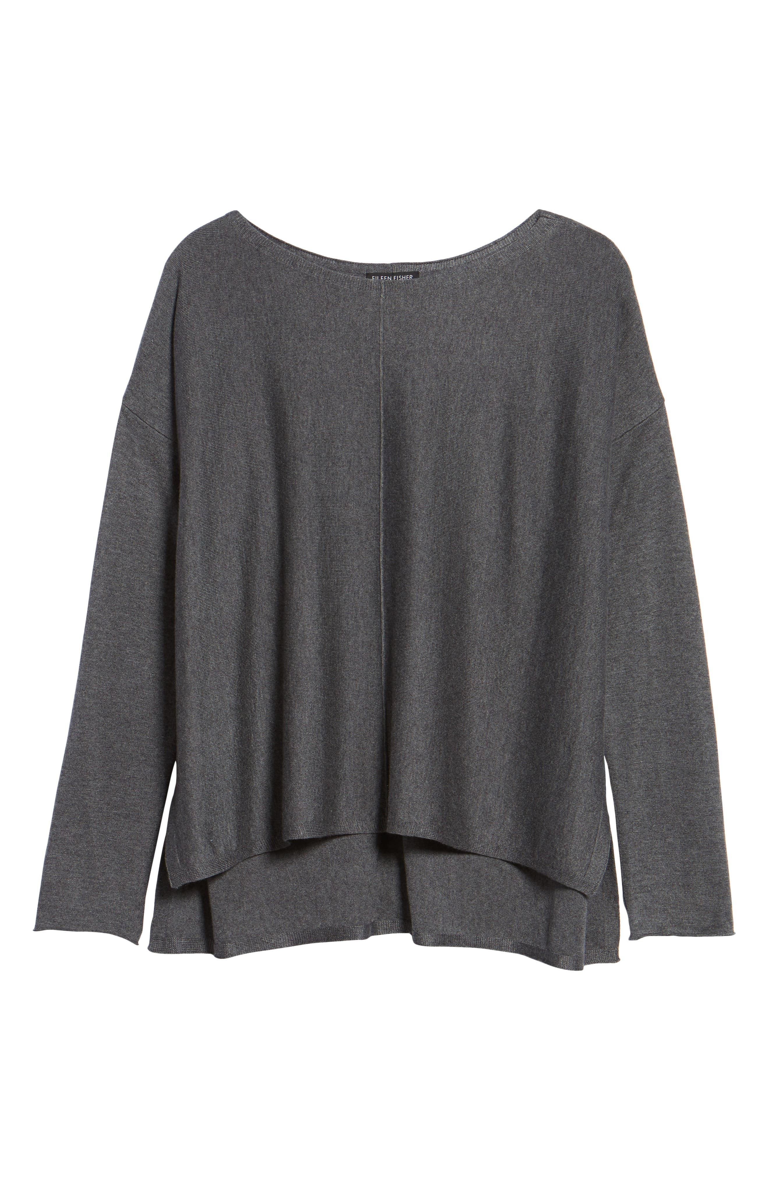 Tencel<sup>®</sup> Lyocell Blend High/Low Sweater,                             Alternate thumbnail 32, color,