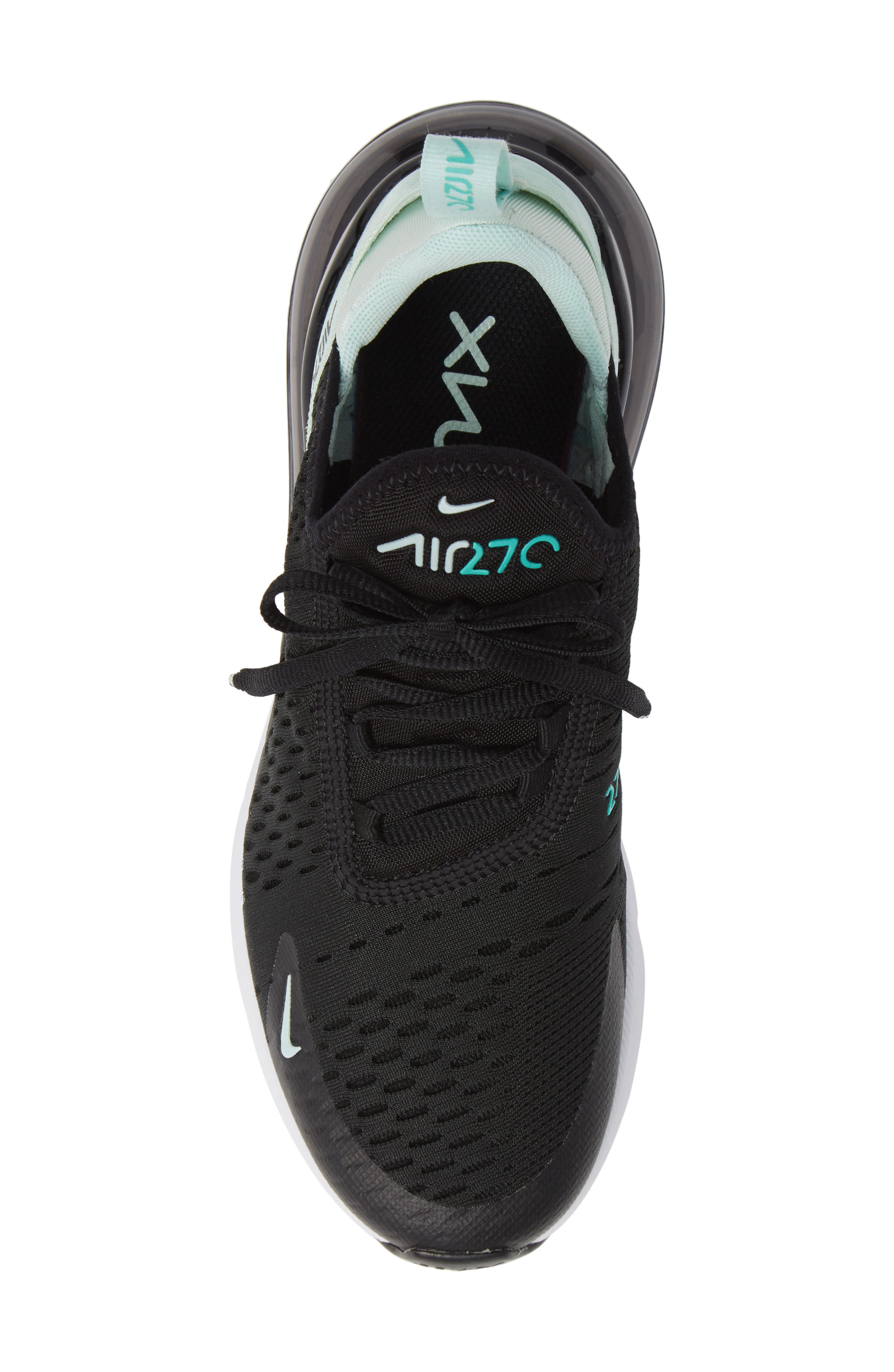 Air Max 270 Premium Sneaker,                             Alternate thumbnail 5, color,                             BLACK/ IGLOO TURQUOISE WHITE
