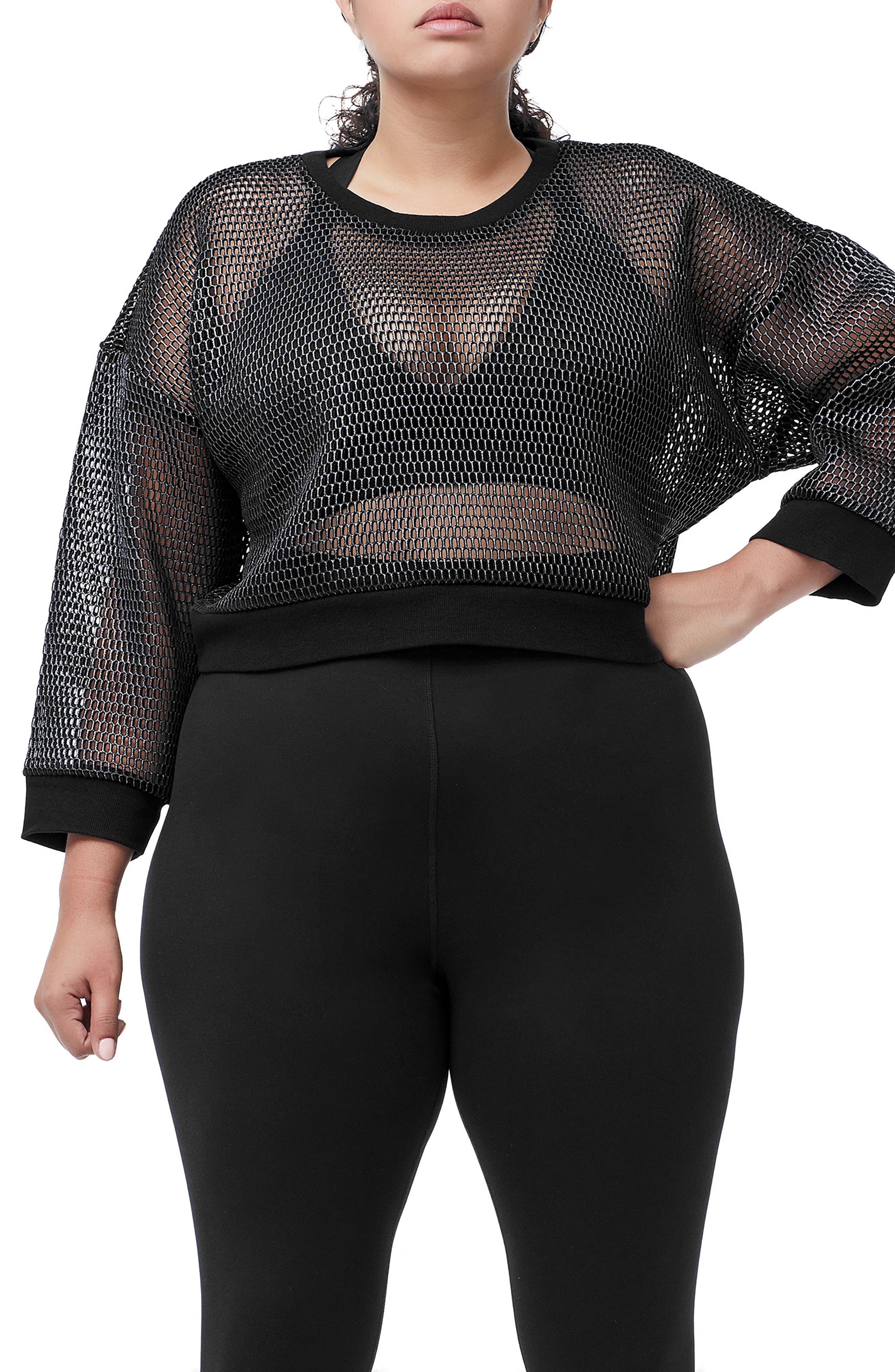Branded Mesh Pullover Sweatshirt,                             Alternate thumbnail 2, color,                             SILVER001