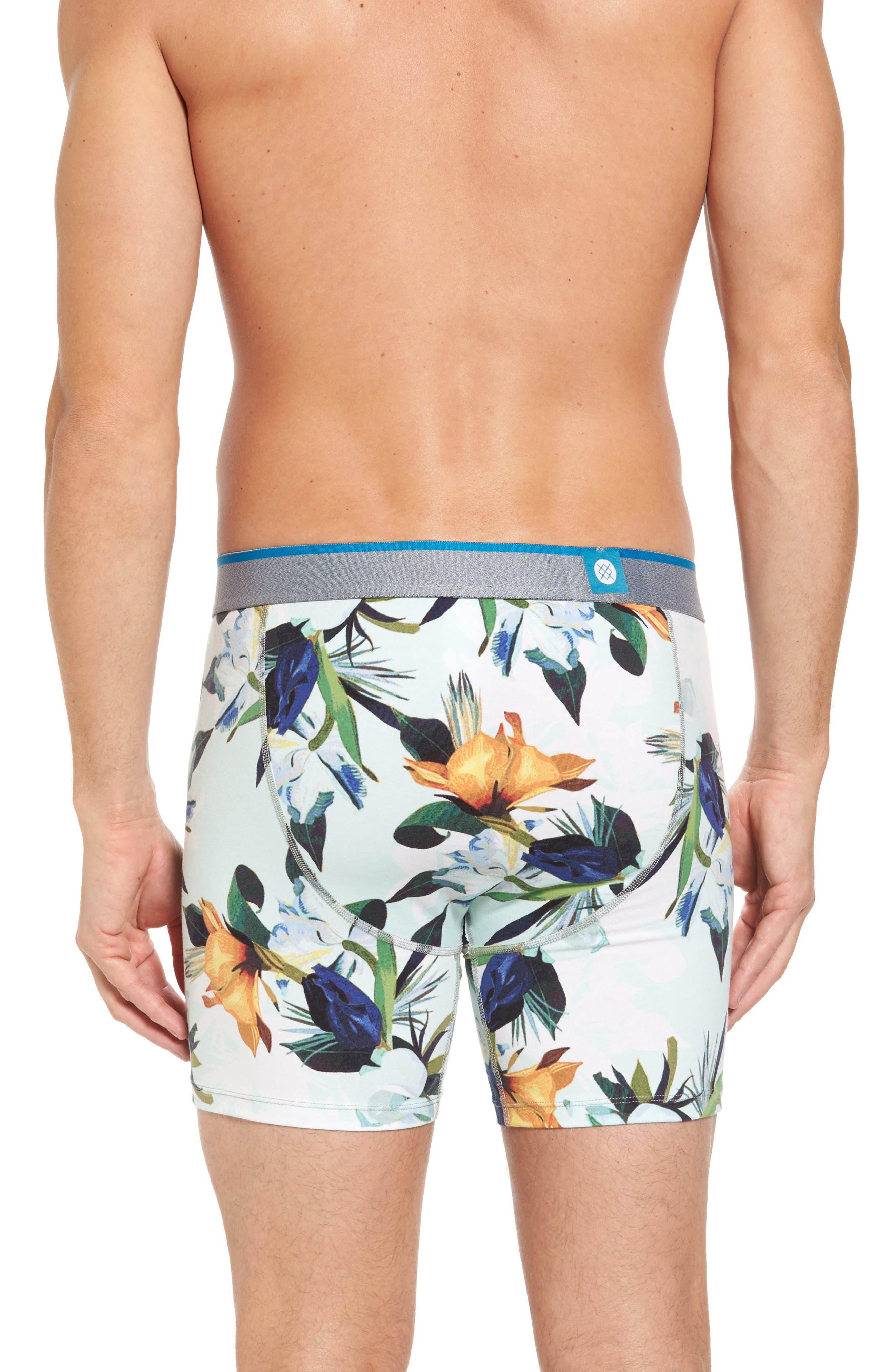 Aqua Floral Boxer Briefs,                             Alternate thumbnail 2, color,                             420