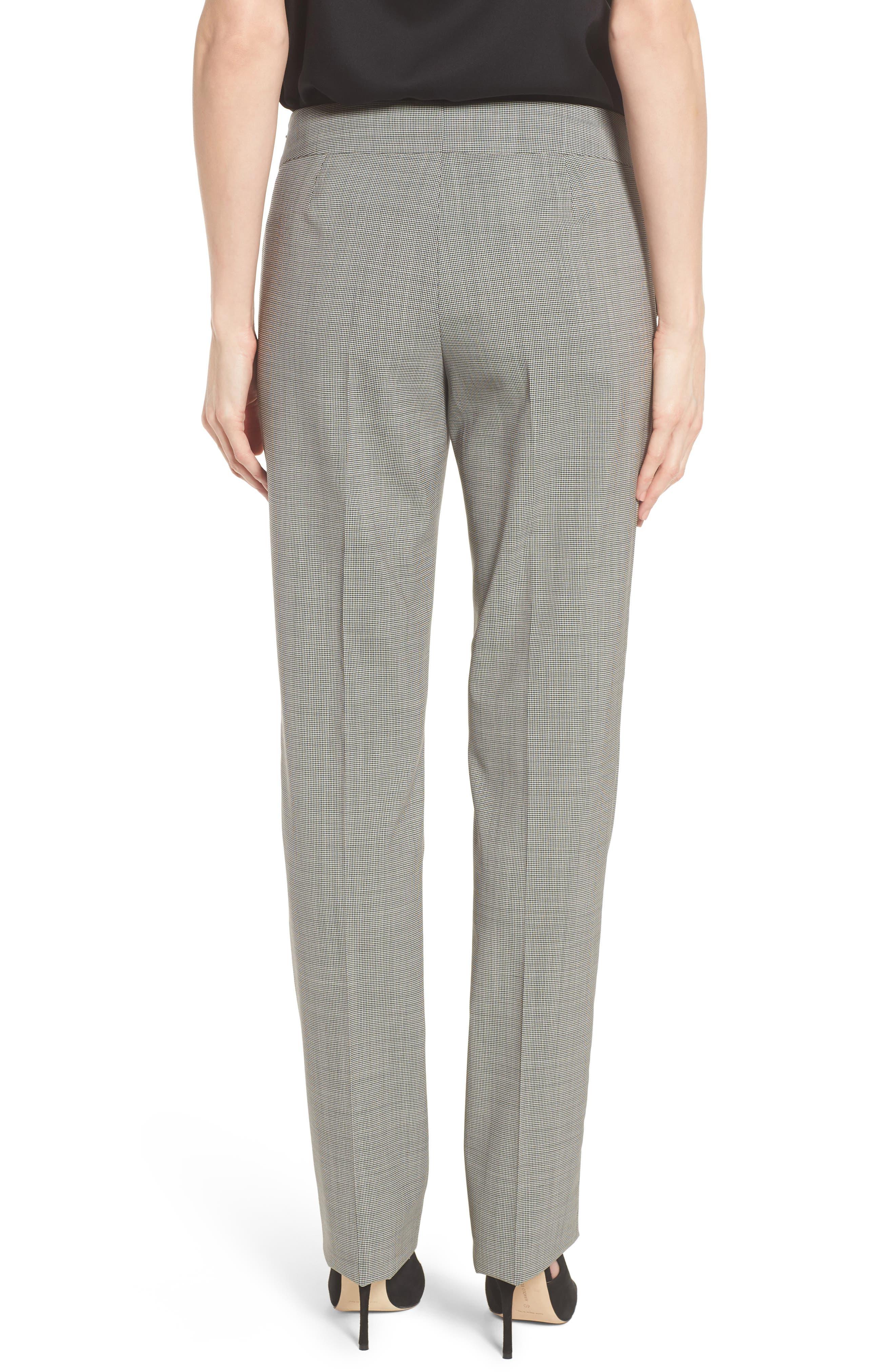Tavilla Ring Belt Straight Leg Wool Suit Pants,                             Alternate thumbnail 2, color,                             006