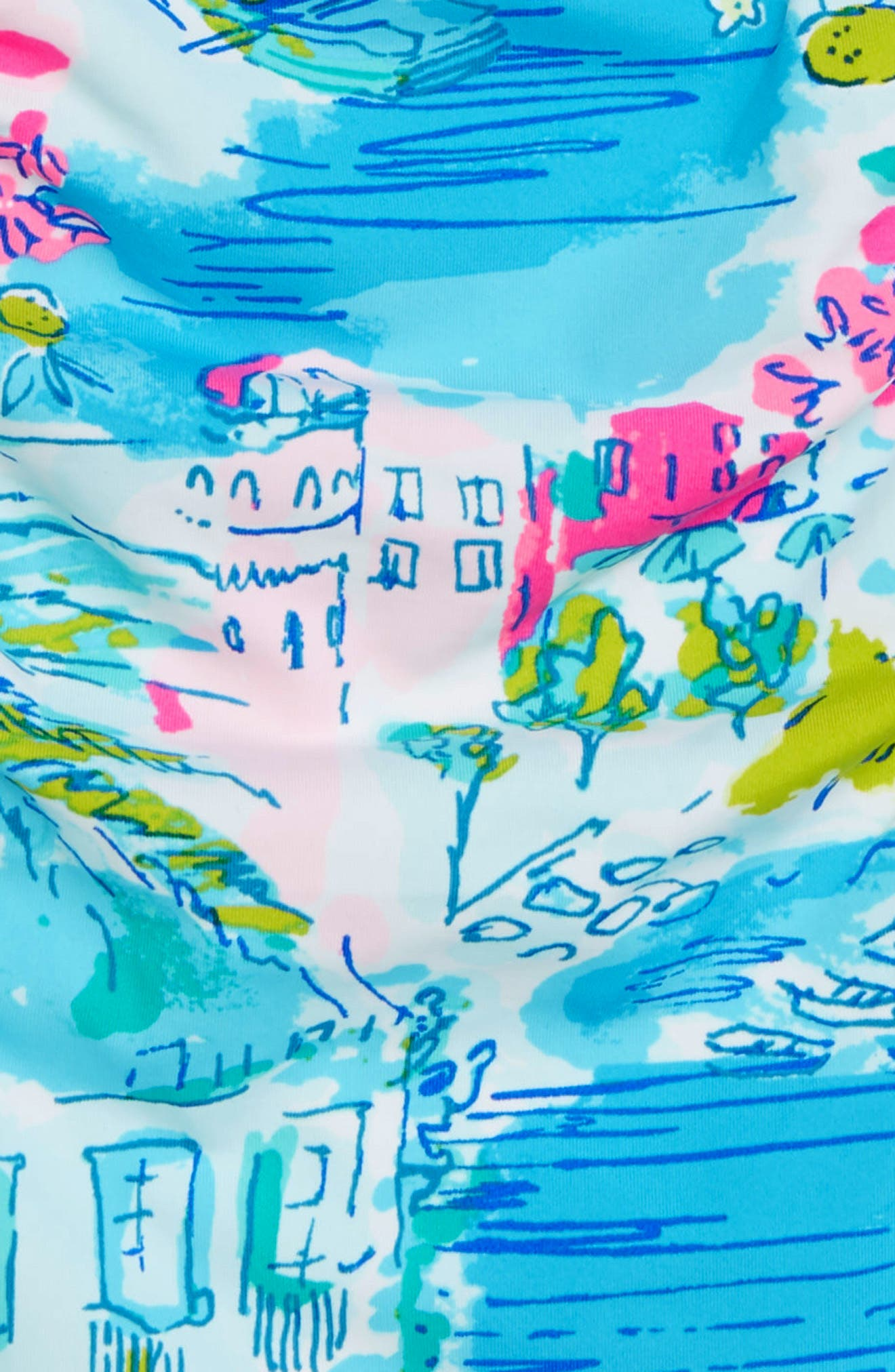 LILLY PULITZER<SUP>®</SUP>,                             Plumeria One-Piece Swimsuit,                             Alternate thumbnail 2, color,                             MULTI POSTCARDS FROM POSITANO