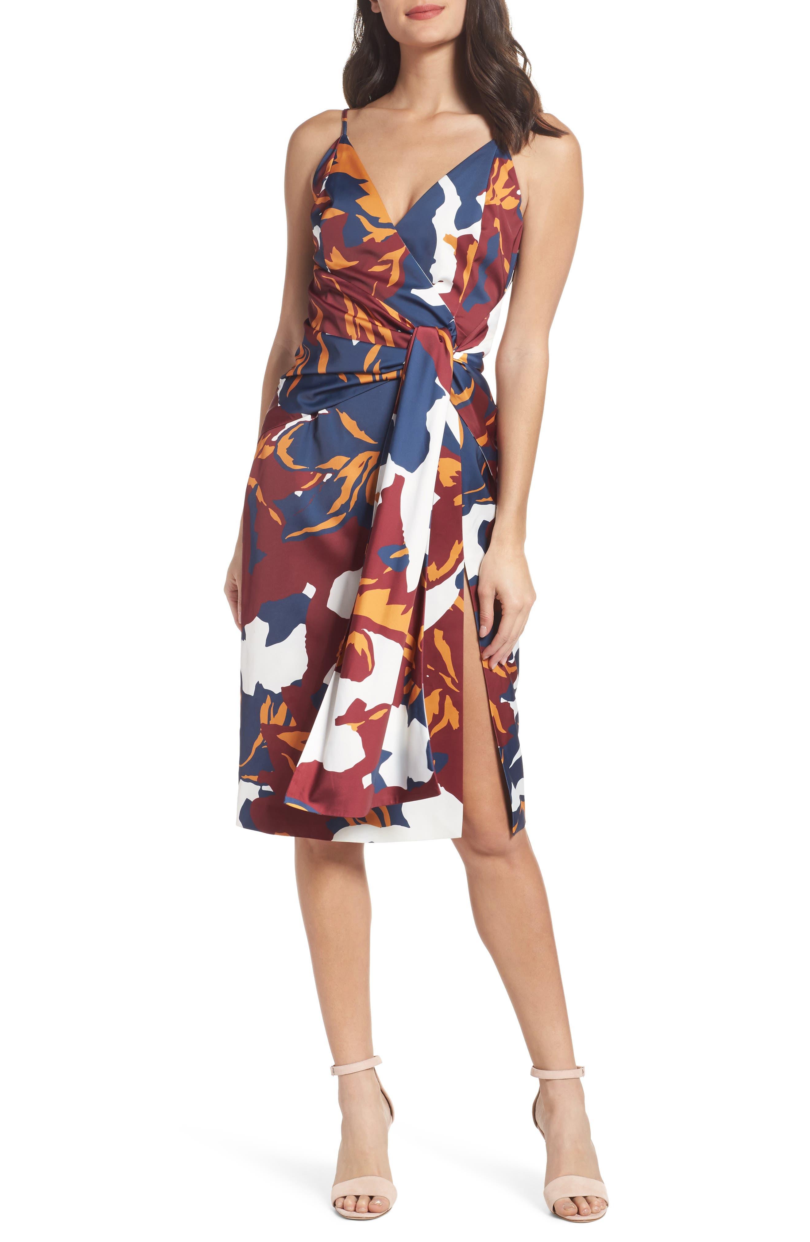 C/MEO COLLECTIVE Vanish Surplice Dress, Main, color, 400