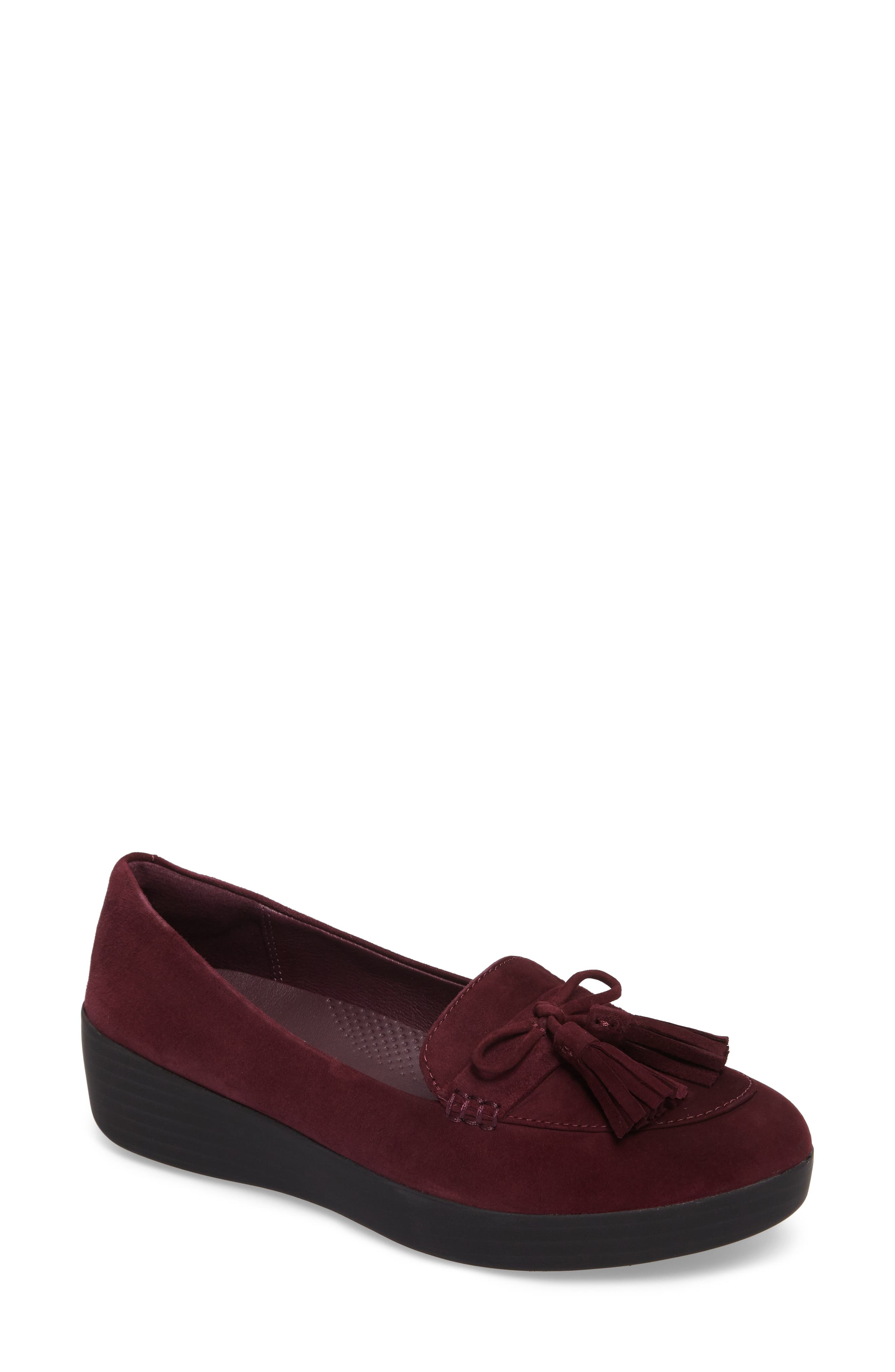 Tassel Bow Sneakerloafer<sup>™</sup> Water Repellent Flat,                             Main thumbnail 4, color,