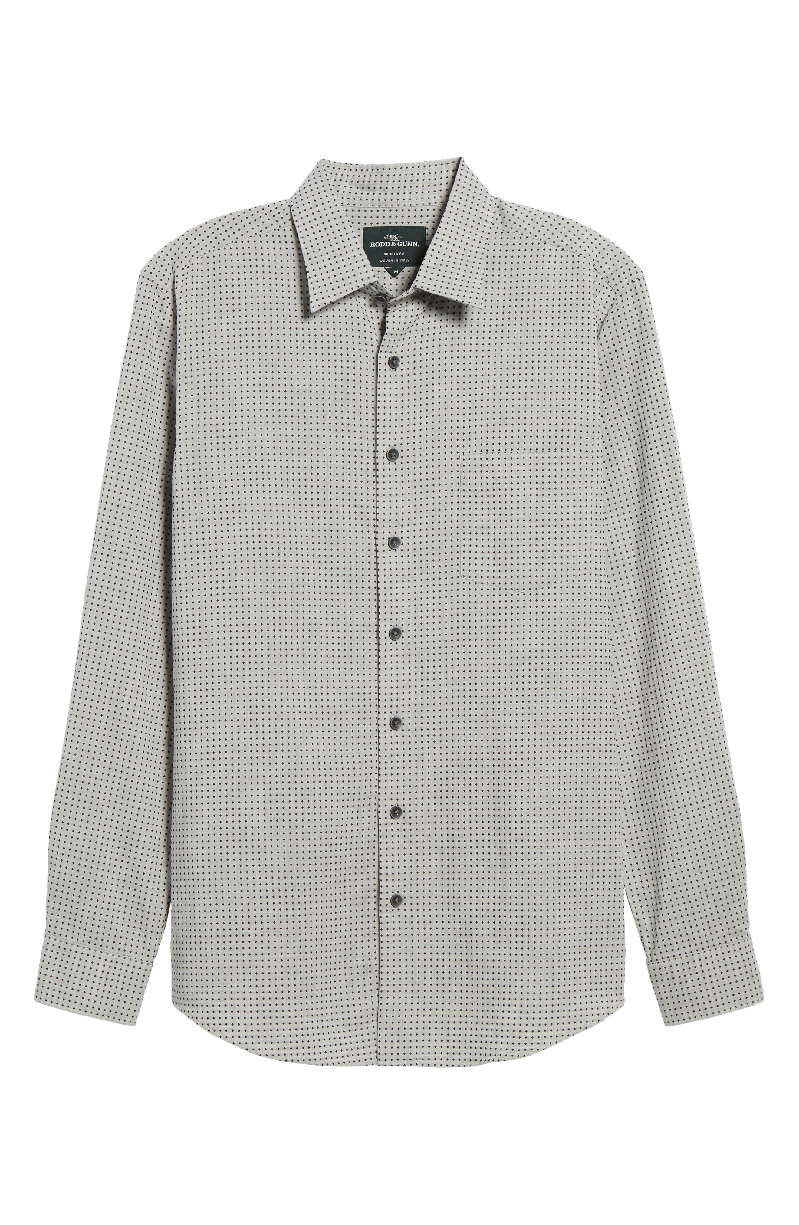 Judgeford Slim Fit Jacquard Sport Shirt,                             Alternate thumbnail 6, color,