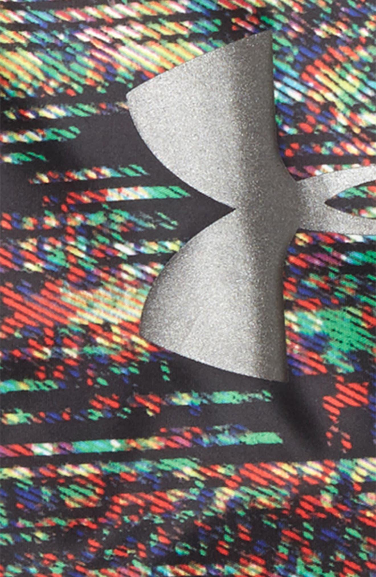 Static Digital Slider Layer T-Shirt,                             Alternate thumbnail 2, color,                             BLACK