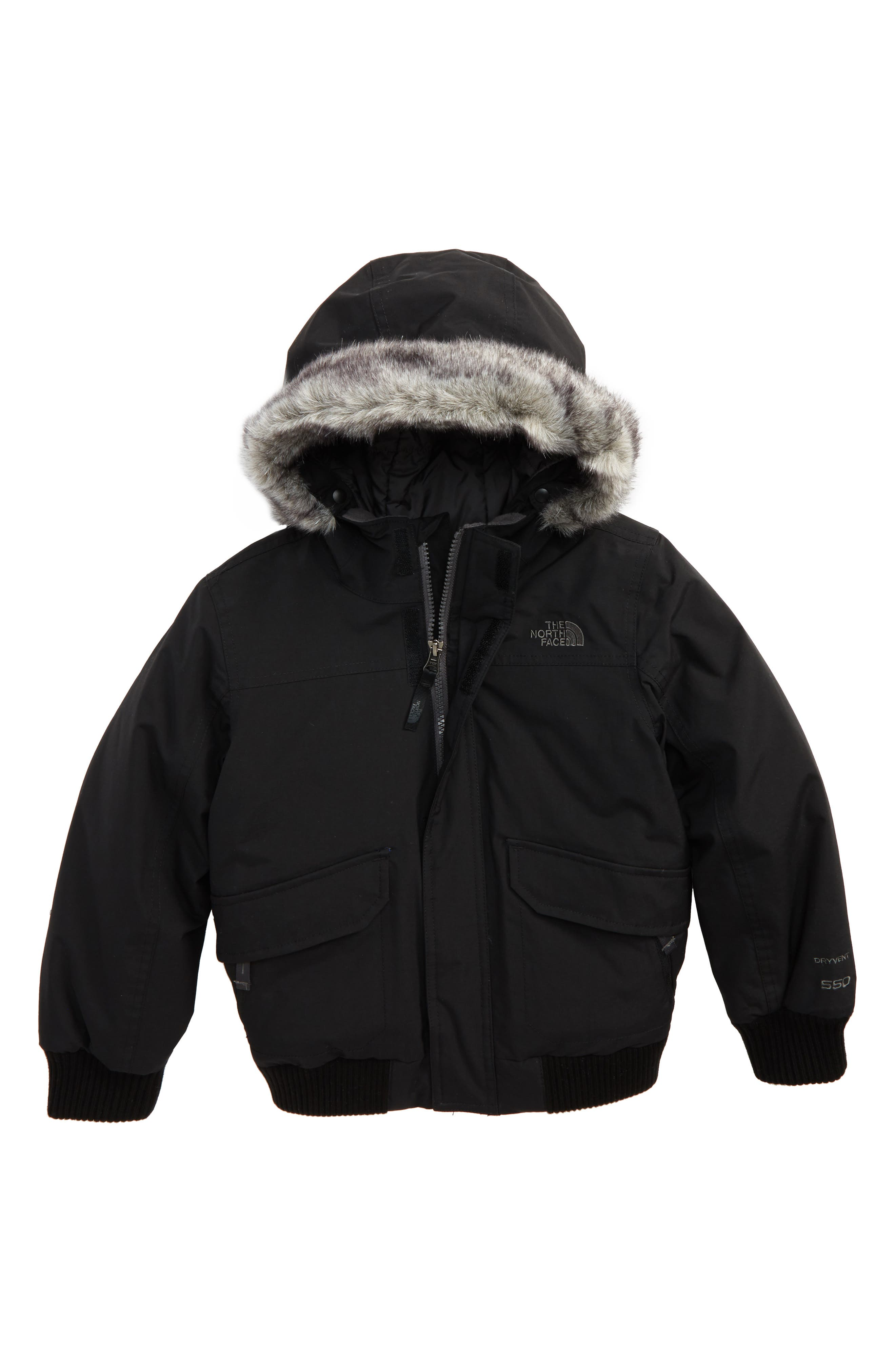 Boys The North Face Gotham Hooded Waterproof 550Fill Power Down Jacket Size 6  Green