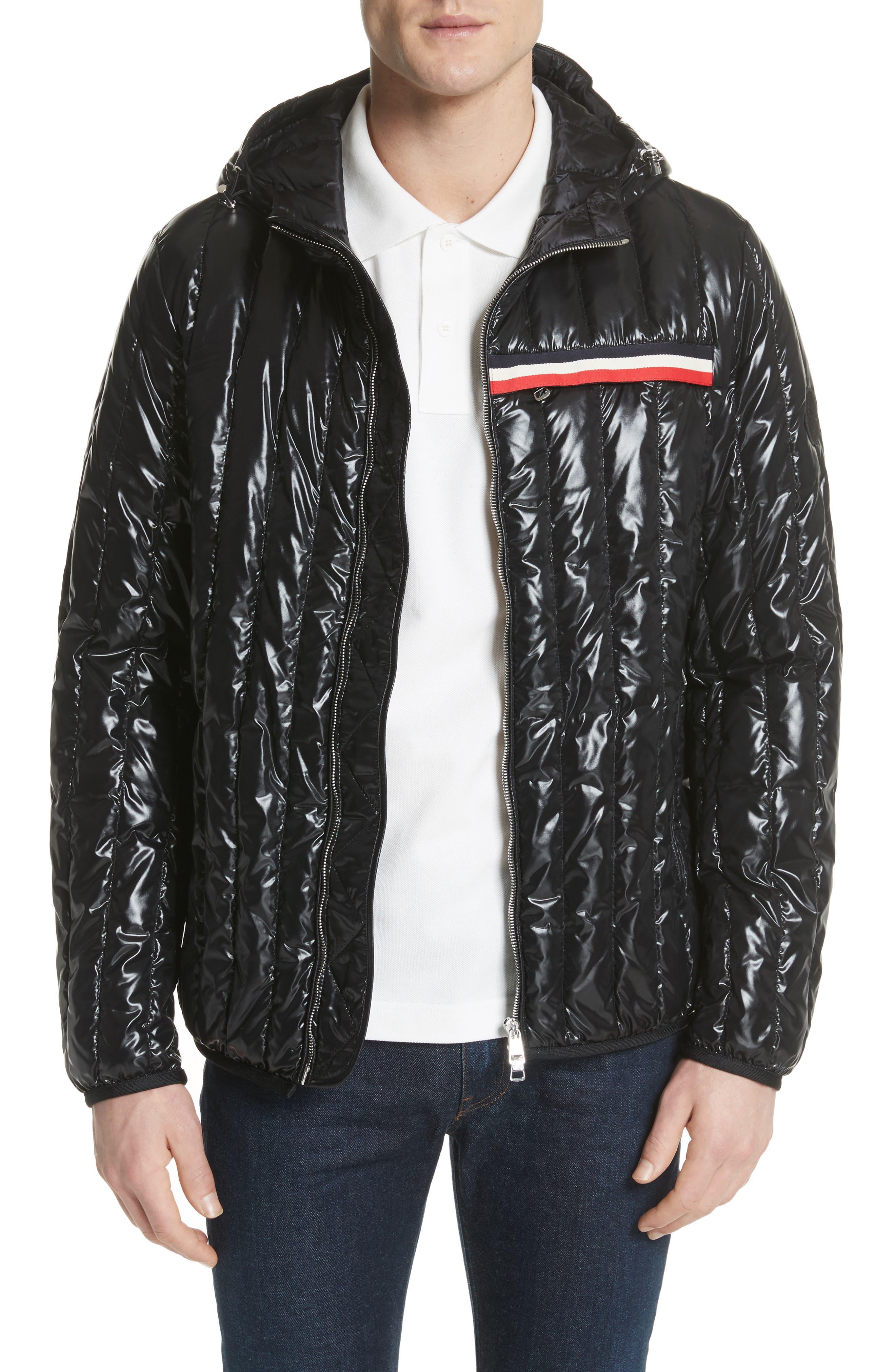 Diren Down Hooded Jacket,                             Main thumbnail 1, color,                             BLACK