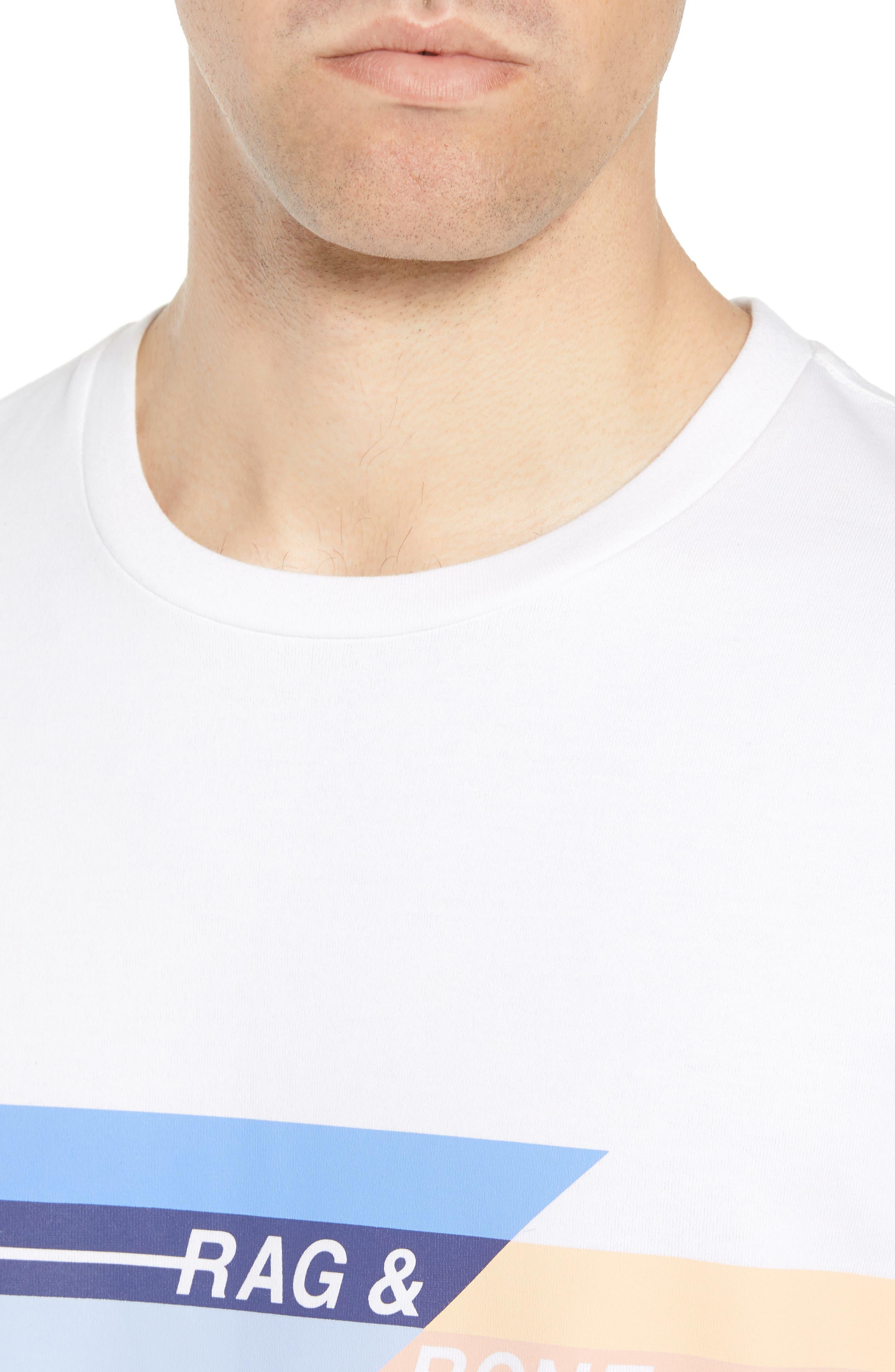 Glitch Regular Fit T-Shirt,                             Alternate thumbnail 4, color,                             WHITE