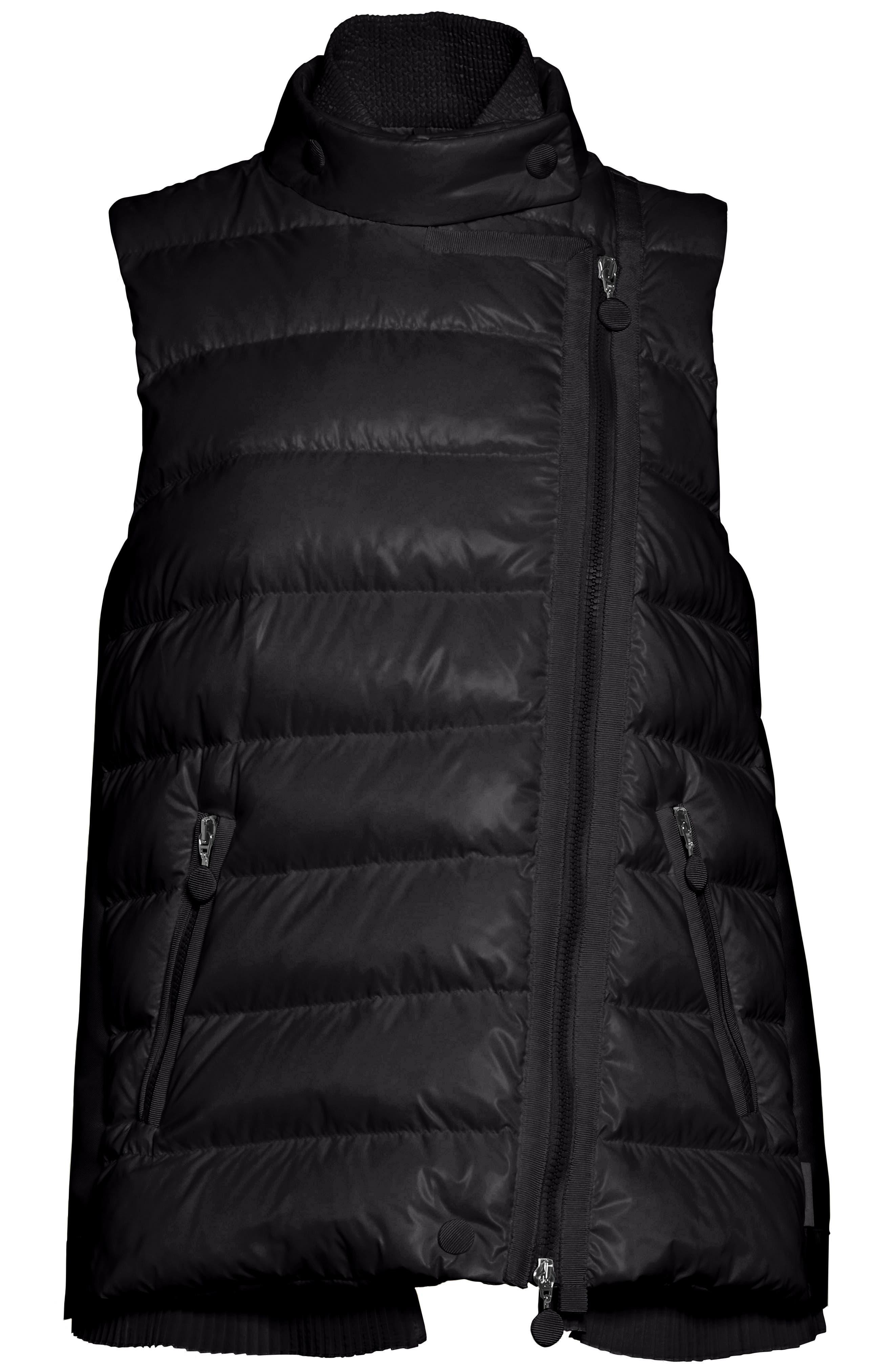 Jane Mixed Media Down Puffer Vest,                             Alternate thumbnail 5, color,                             001