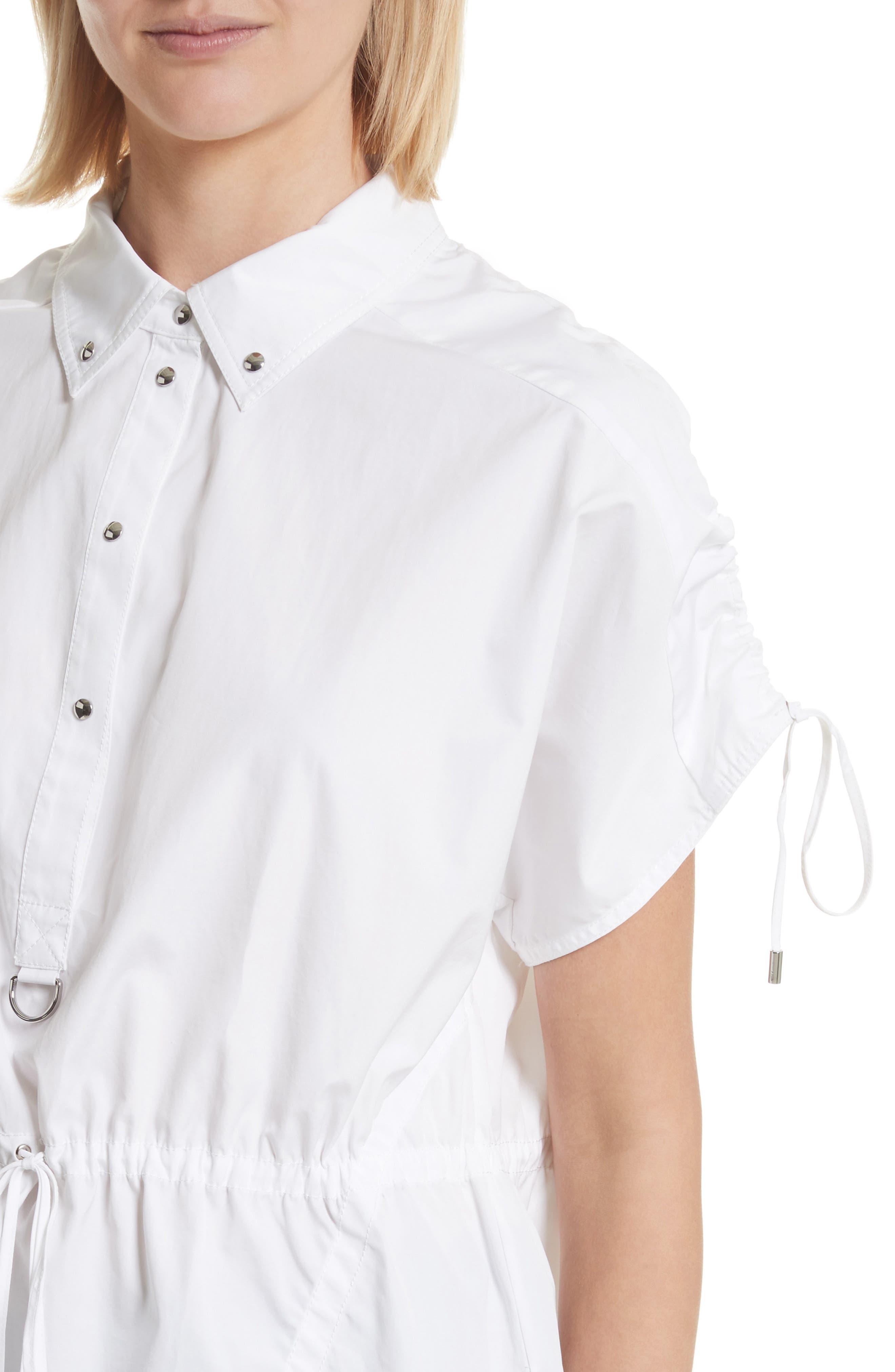 Cotton Poplin Shirt,                             Alternate thumbnail 4, color,                             110