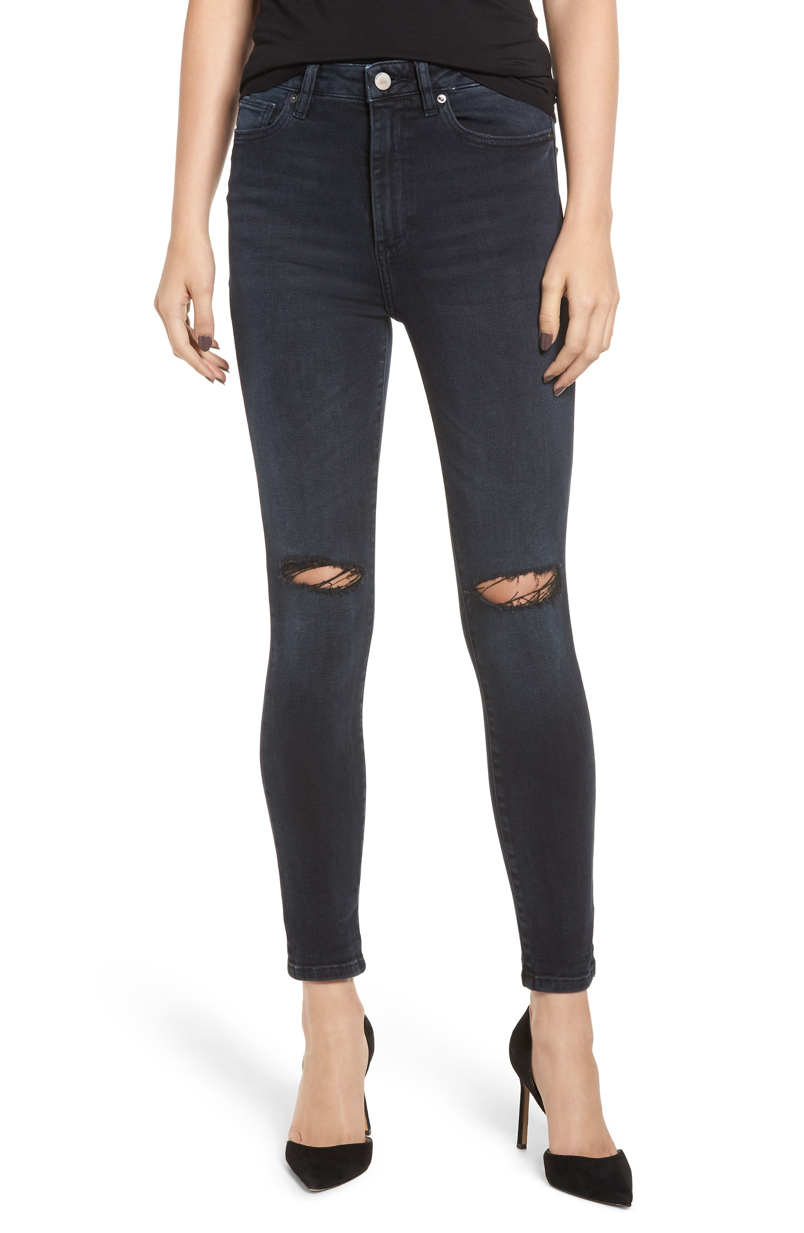 Chrissy Ultra High Waist Ankle Skinny Jeans,                             Main thumbnail 1, color,                             PORTER