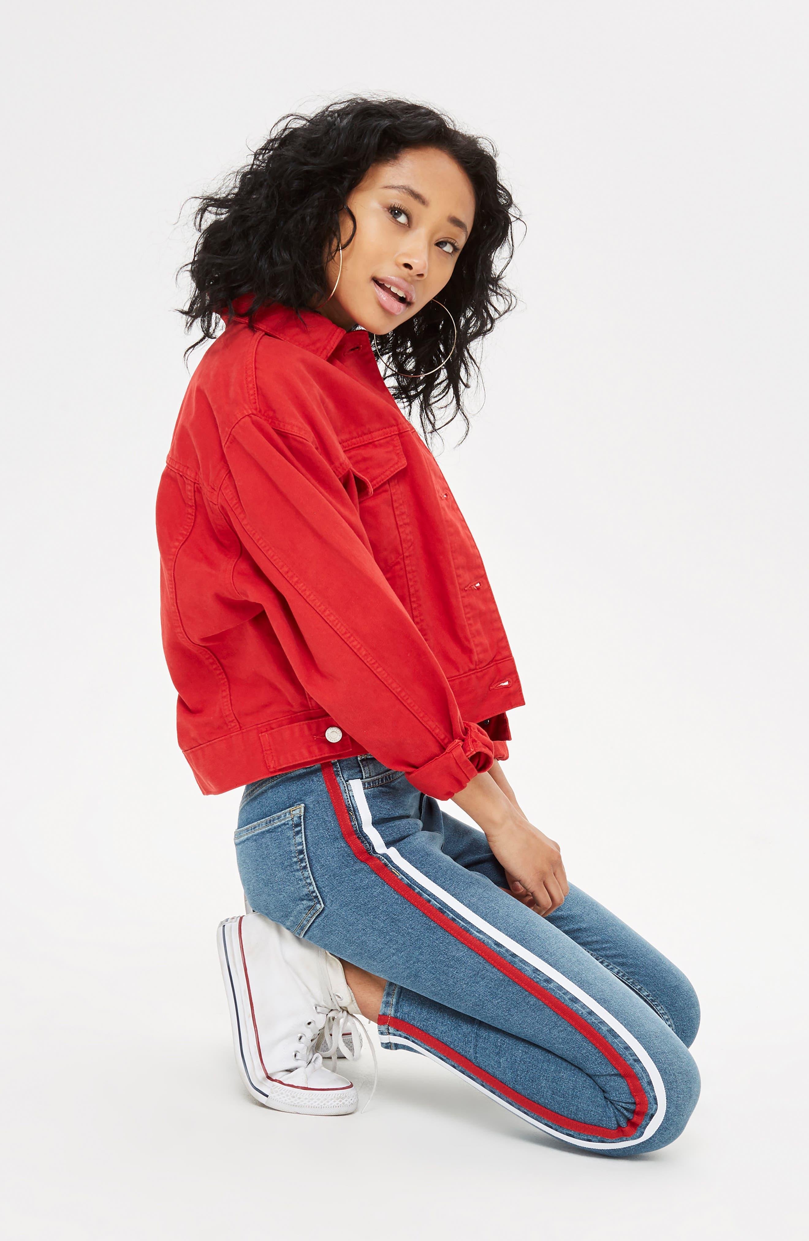 Jamie Side Stripe Jeans,                             Alternate thumbnail 4, color,                             420