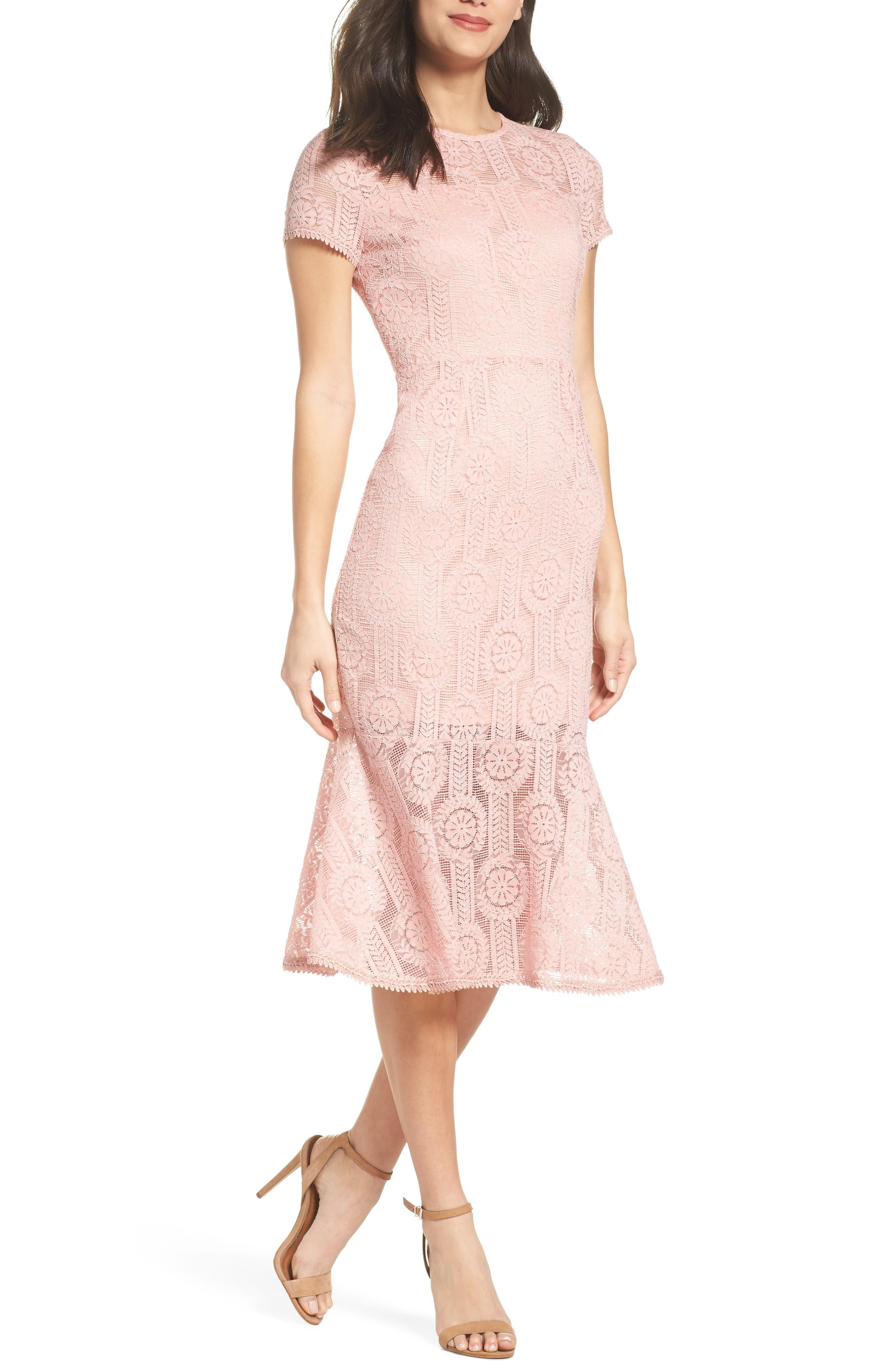 Lace Midi Dress,                             Main thumbnail 2, color,