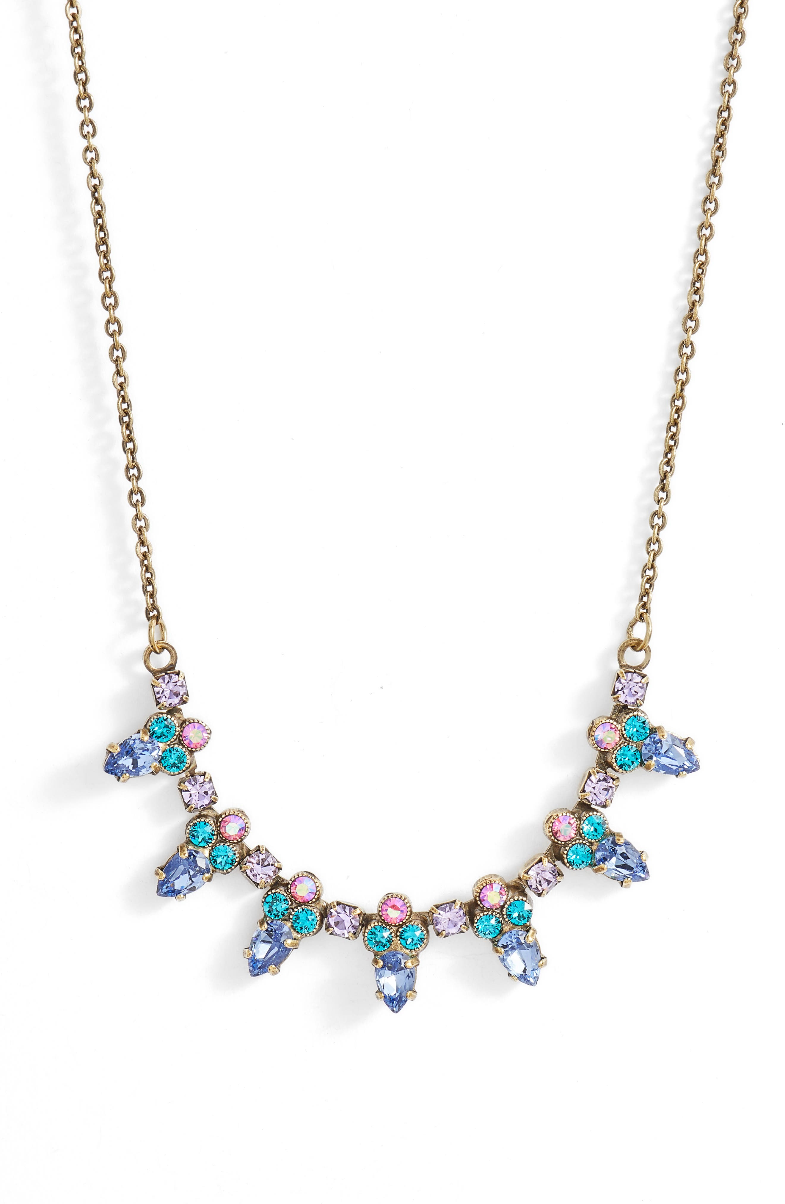 Twinkling Thistle Crystal Necklace,                             Main thumbnail 3, color,