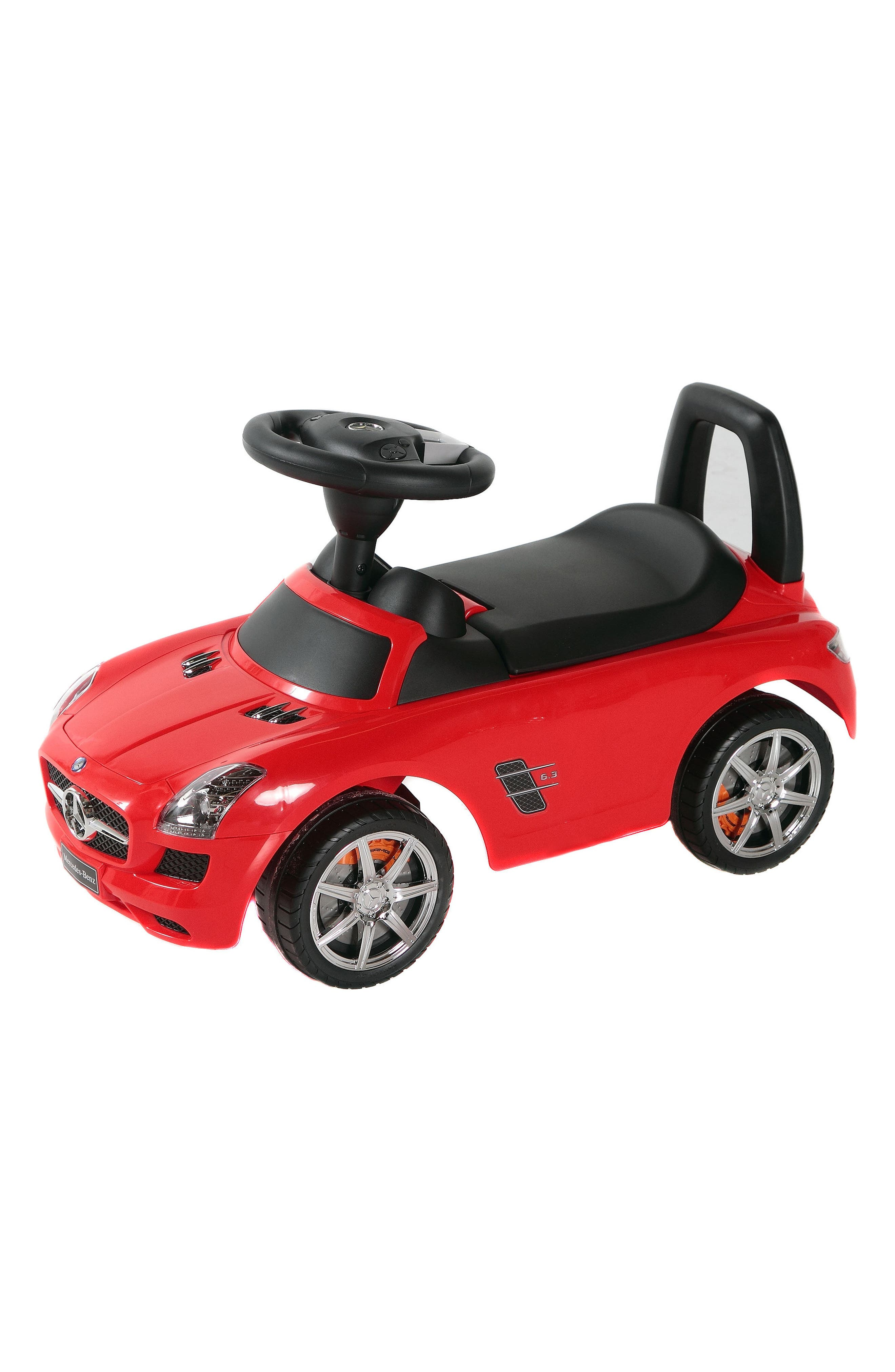 Mercedes Push Car,                             Main thumbnail 1, color,                             RED