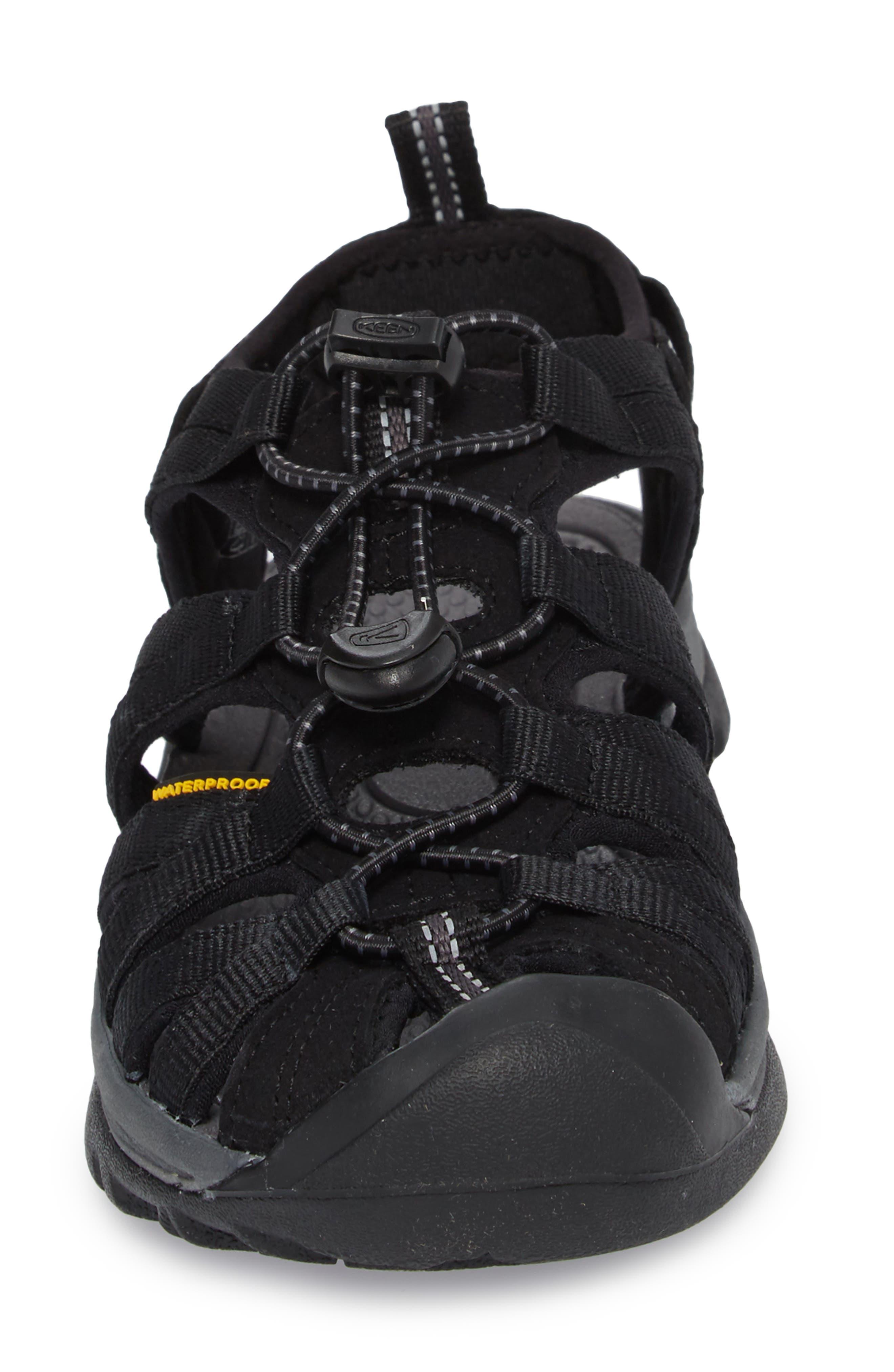 'Whisper' Water Friendly Sport Sandal,                             Alternate thumbnail 4, color,                             BLACK/ MAGNET