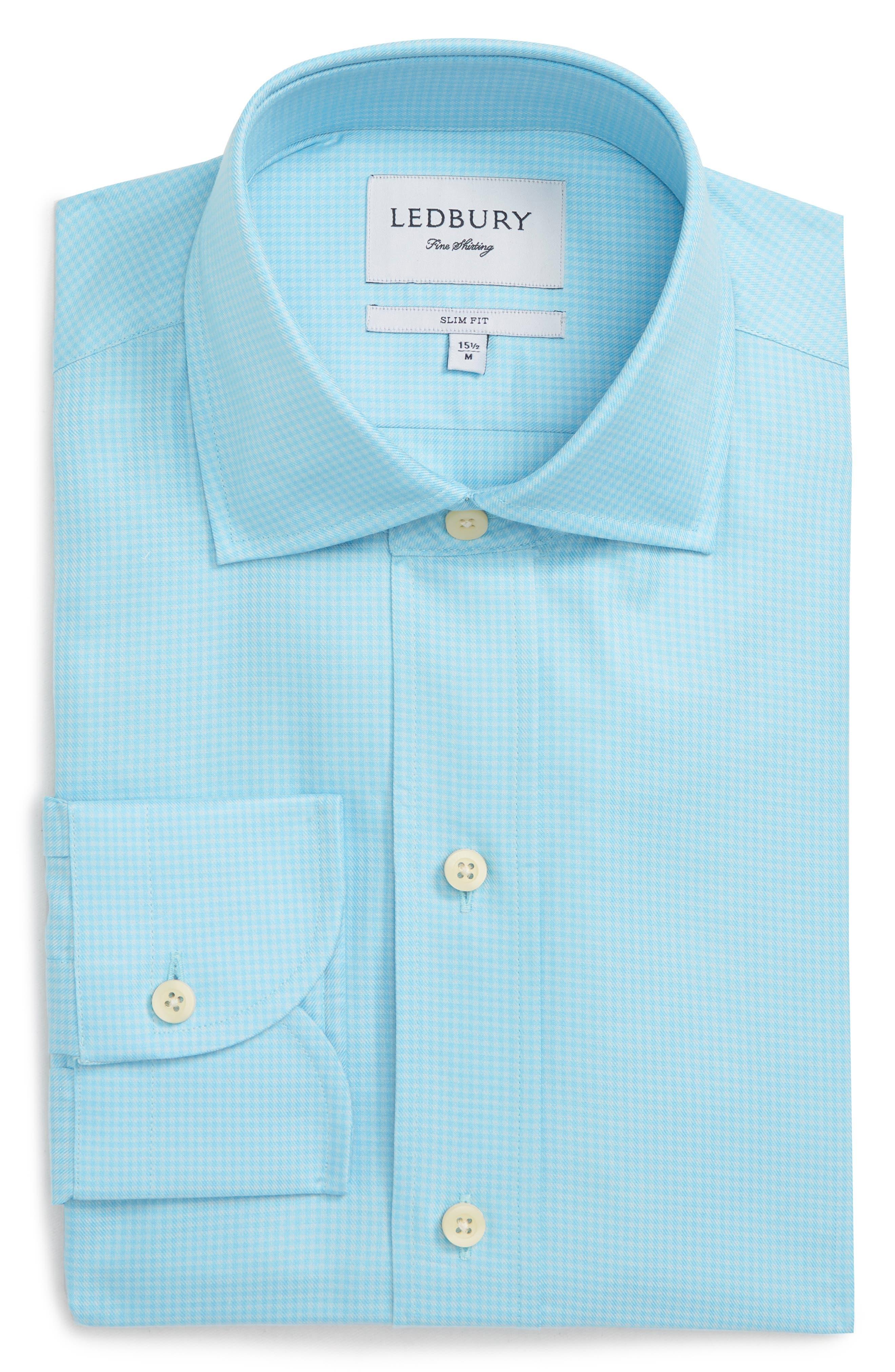 Innis Slim Fit Check Dress Shirt,                         Main,                         color, 450
