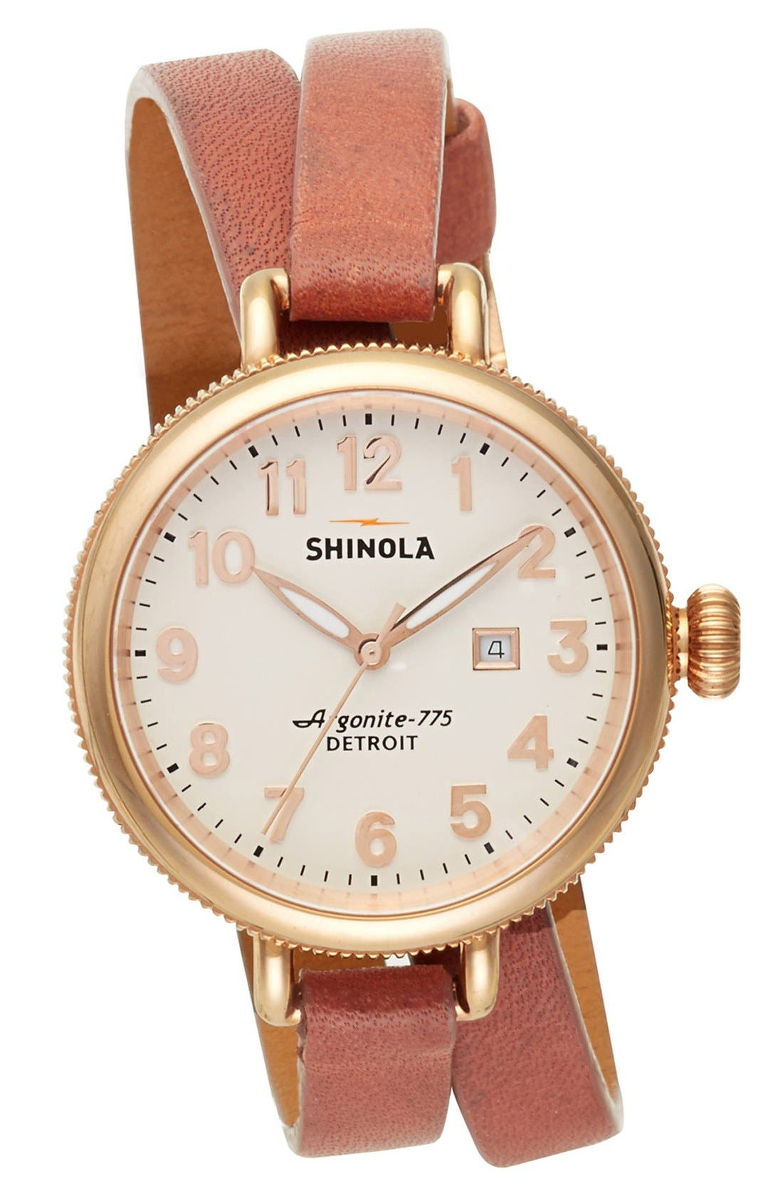 'The Birdy' Double Wrap Leather Strap Watch, 34mm,                             Alternate thumbnail 62, color,