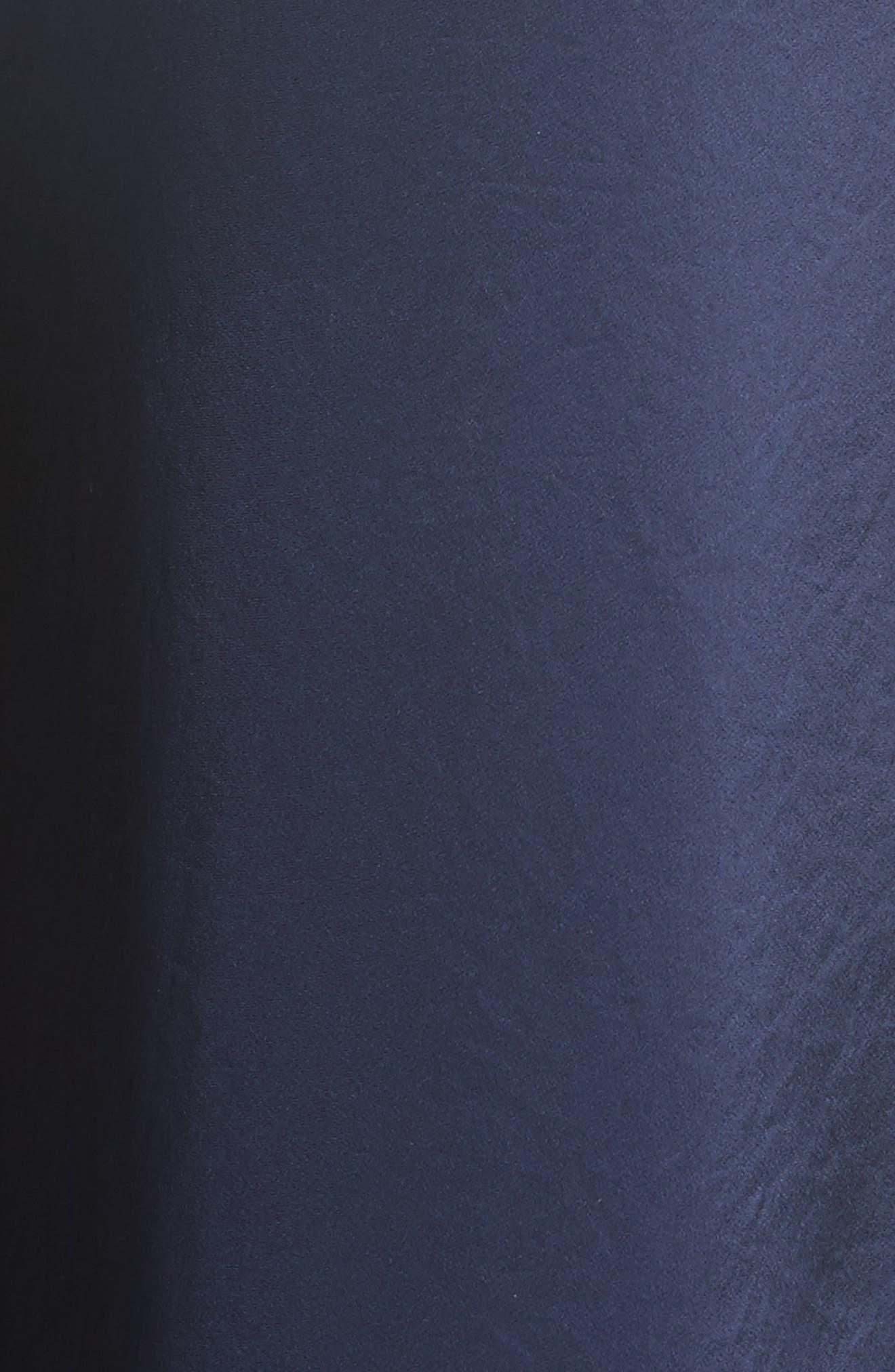 Illusion & Satin Ruffle Jumpsuit,                             Alternate thumbnail 5, color,