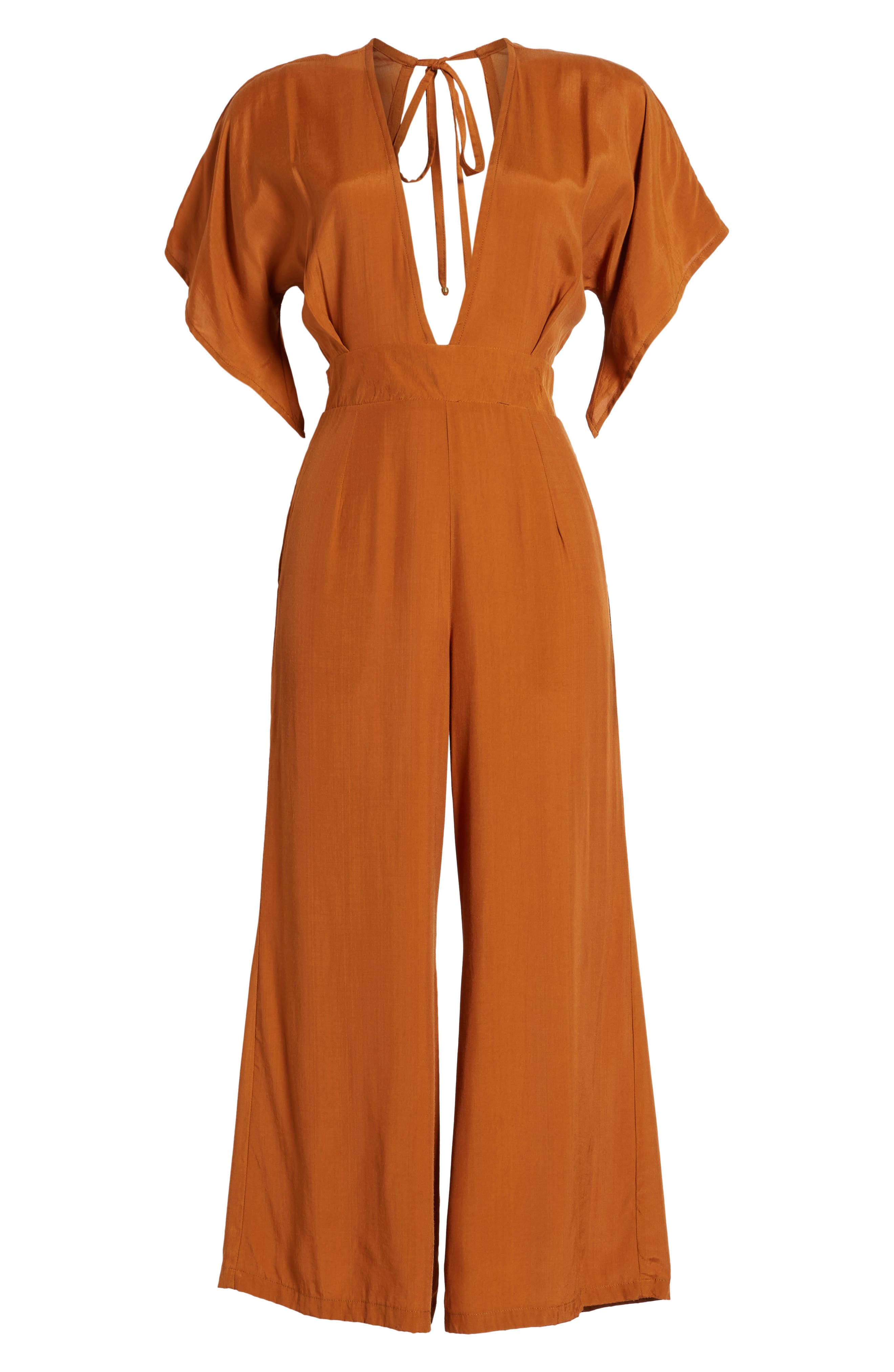 Cedric Plunging Jumpsuit,                             Alternate thumbnail 6, color,
