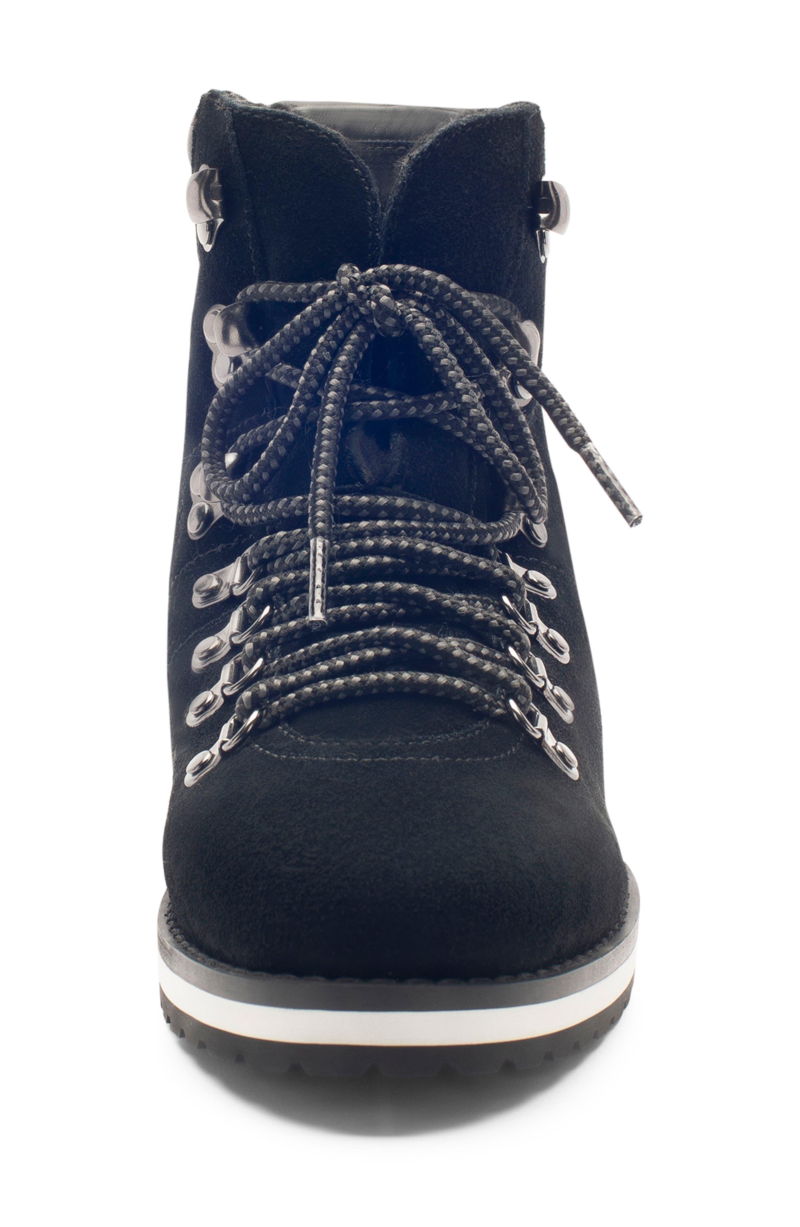 BLONDO,                             Regan Waterproof Boot,                             Alternate thumbnail 4, color,                             BLACK SUEDE