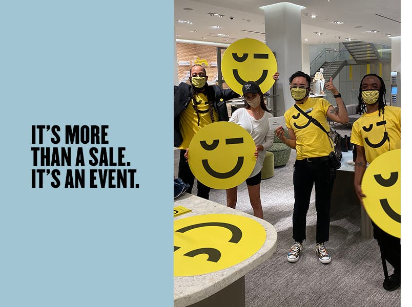 It's more than a sale. It's an event.