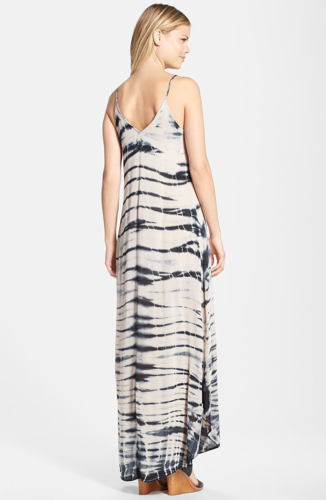 Tie Dye A-Line Maxi Dress,                             Alternate thumbnail 7, color,                             250