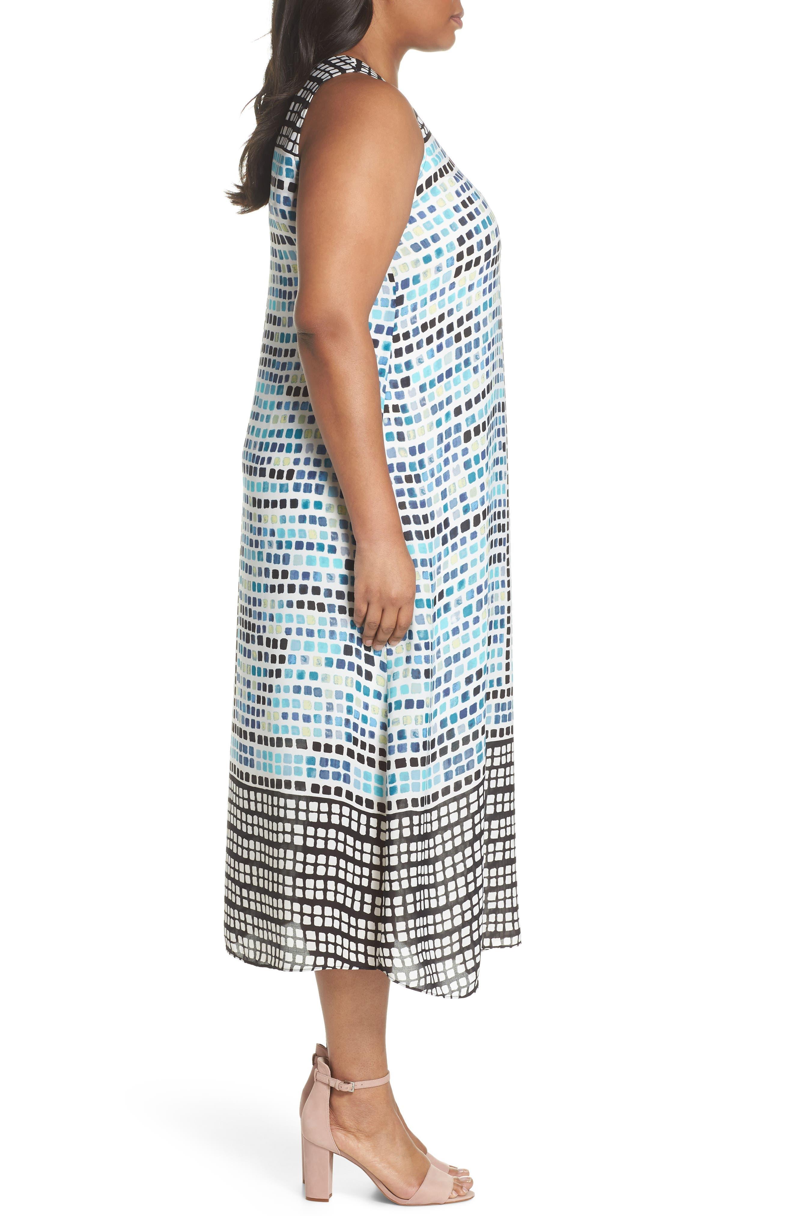 Color Wave Maxi Dress,                             Alternate thumbnail 3, color,                             490