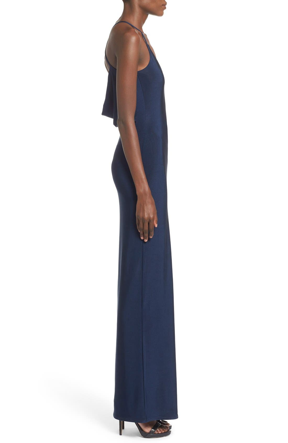 Slinky Cowl Back Maxi Dress,                             Alternate thumbnail 4, color,                             468