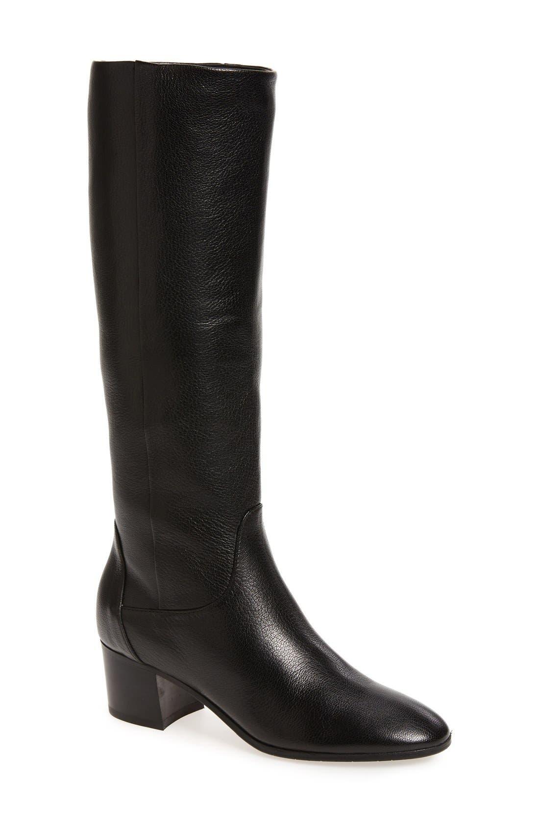 AQUATALIA,                             Deanna Weatherproof Knee High Boot,                             Main thumbnail 1, color,                             001
