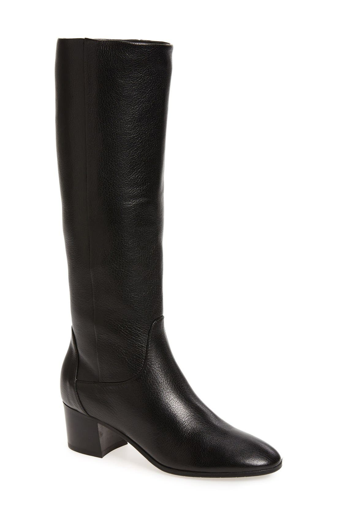 AQUATALIA Deanna Weatherproof Knee High Boot, Main, color, 001