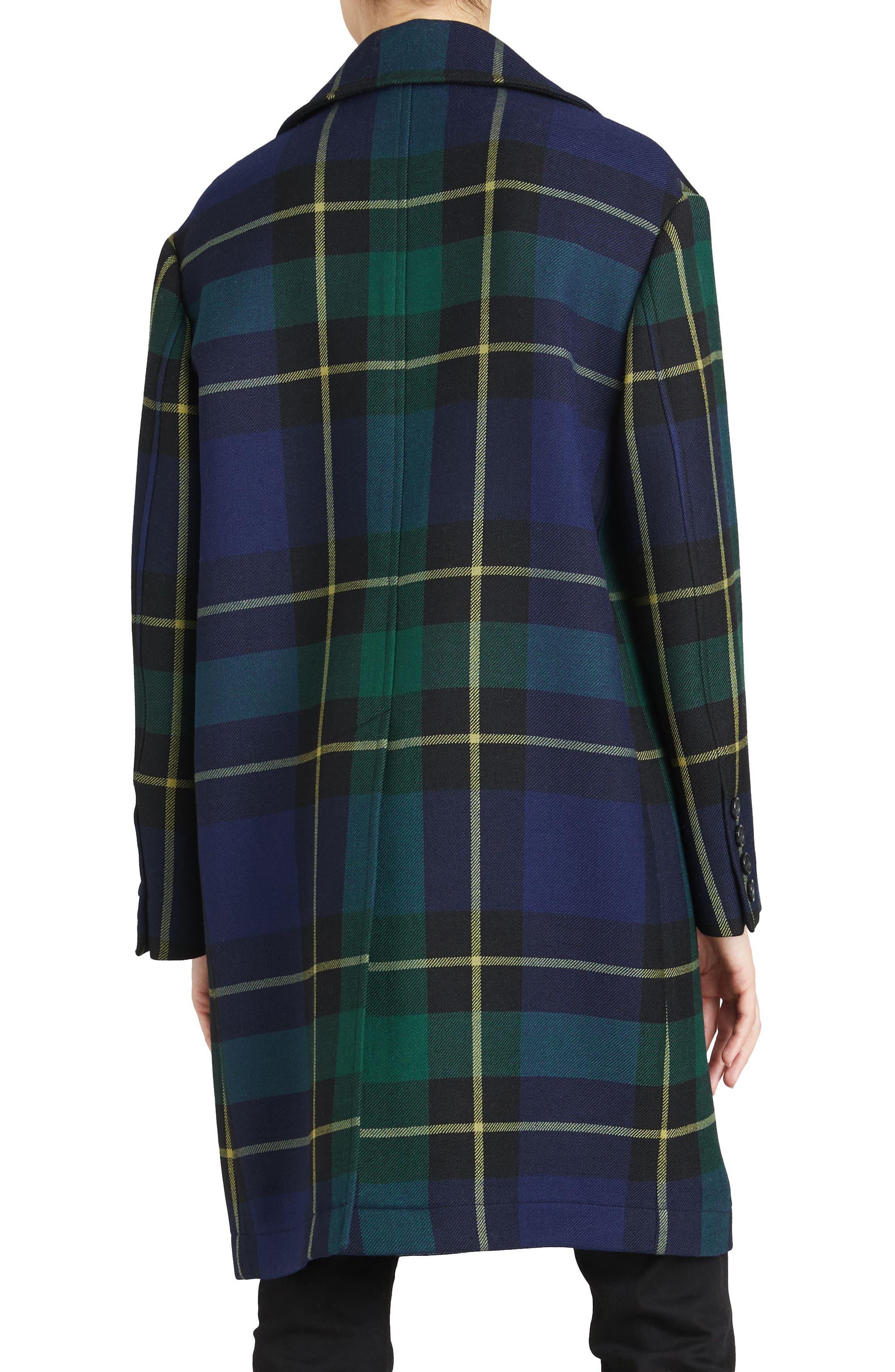 Strathyre Tartan Plaid Wool Blend Coat,                             Alternate thumbnail 2, color,                             303