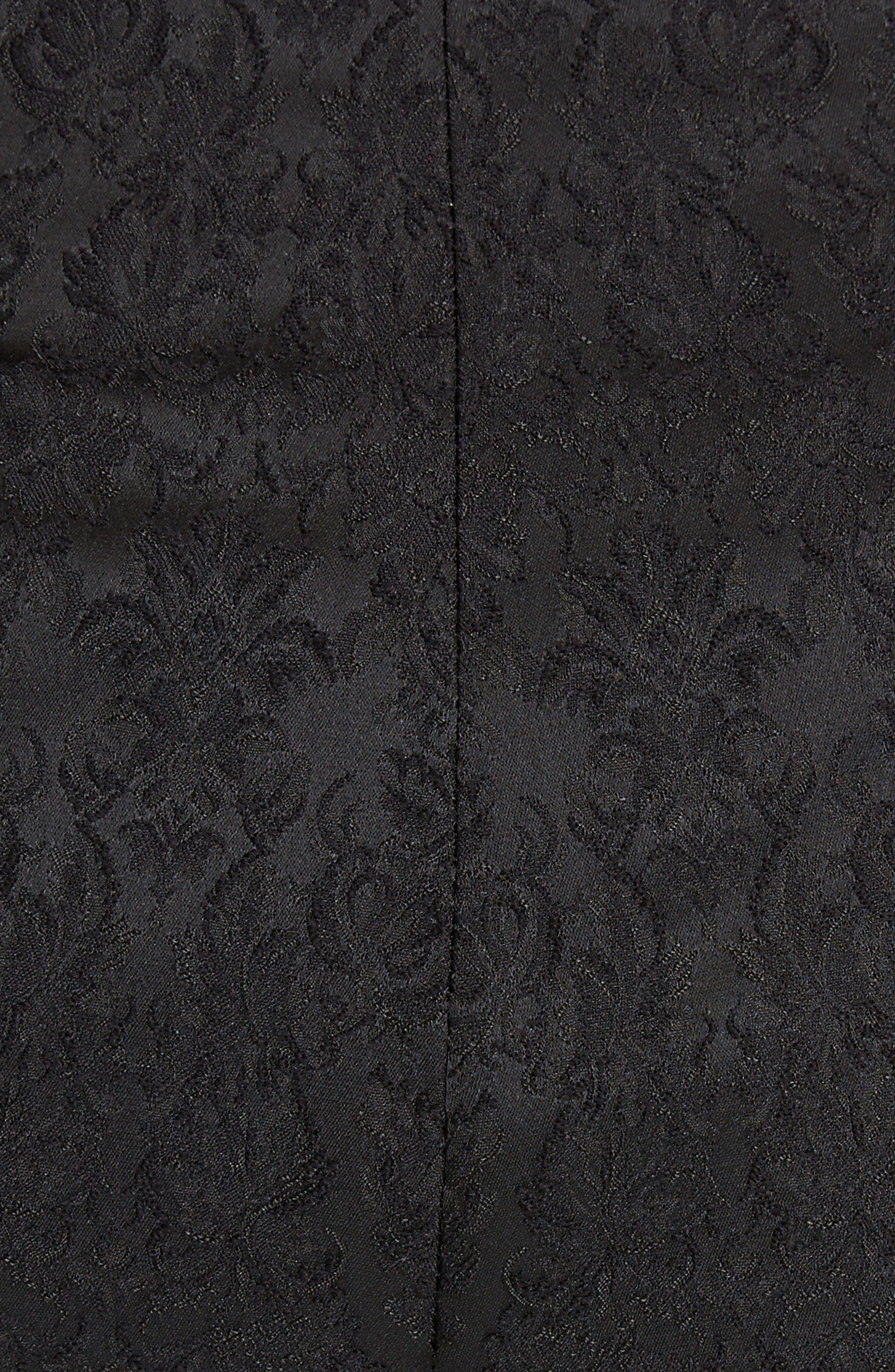 Jacquard Cuff Skinny Pants,                             Alternate thumbnail 5, color,                             N0000 BLACK