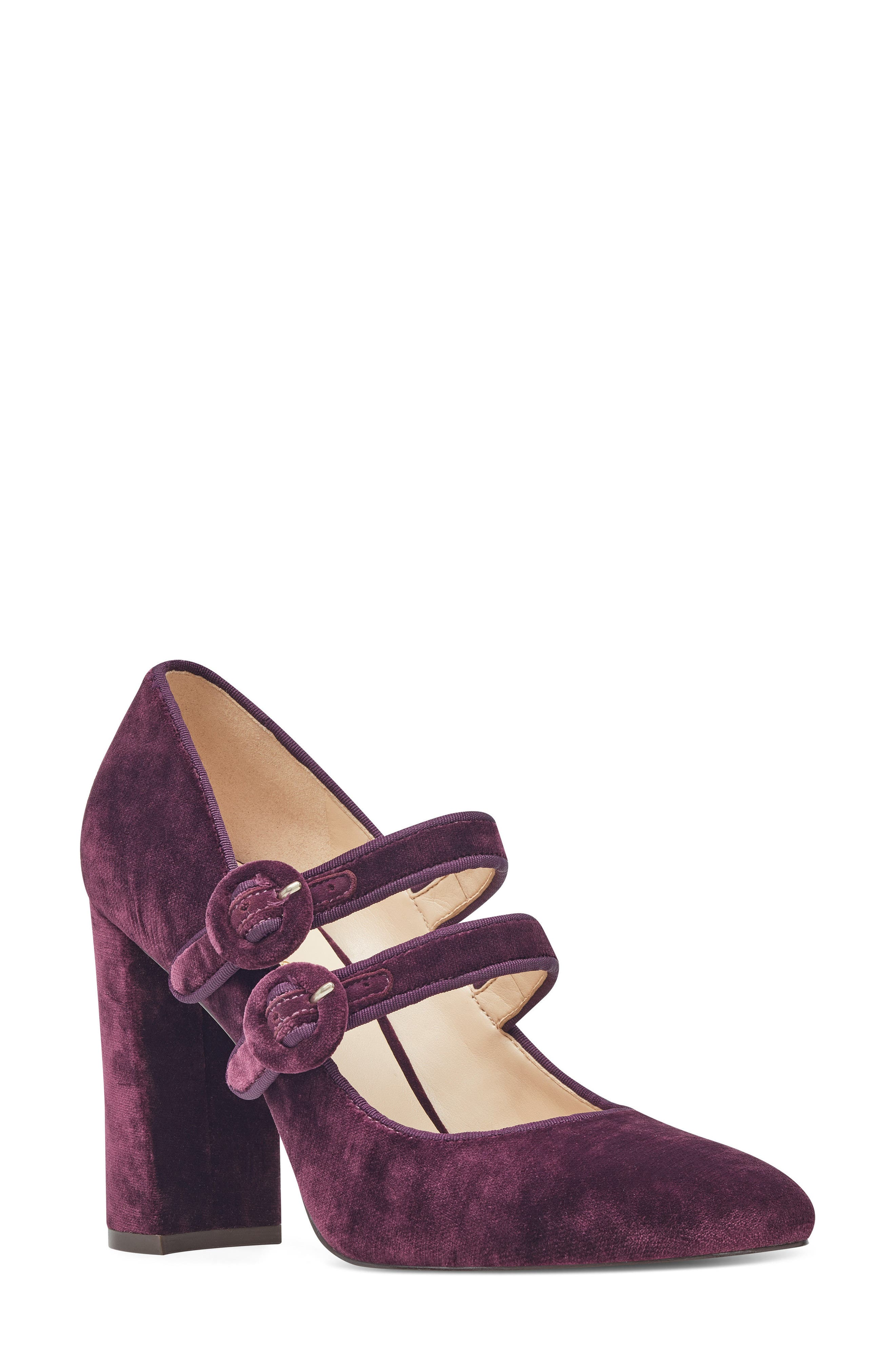 Dabney Double Strap Mary Jane Pump,                             Main thumbnail 4, color,