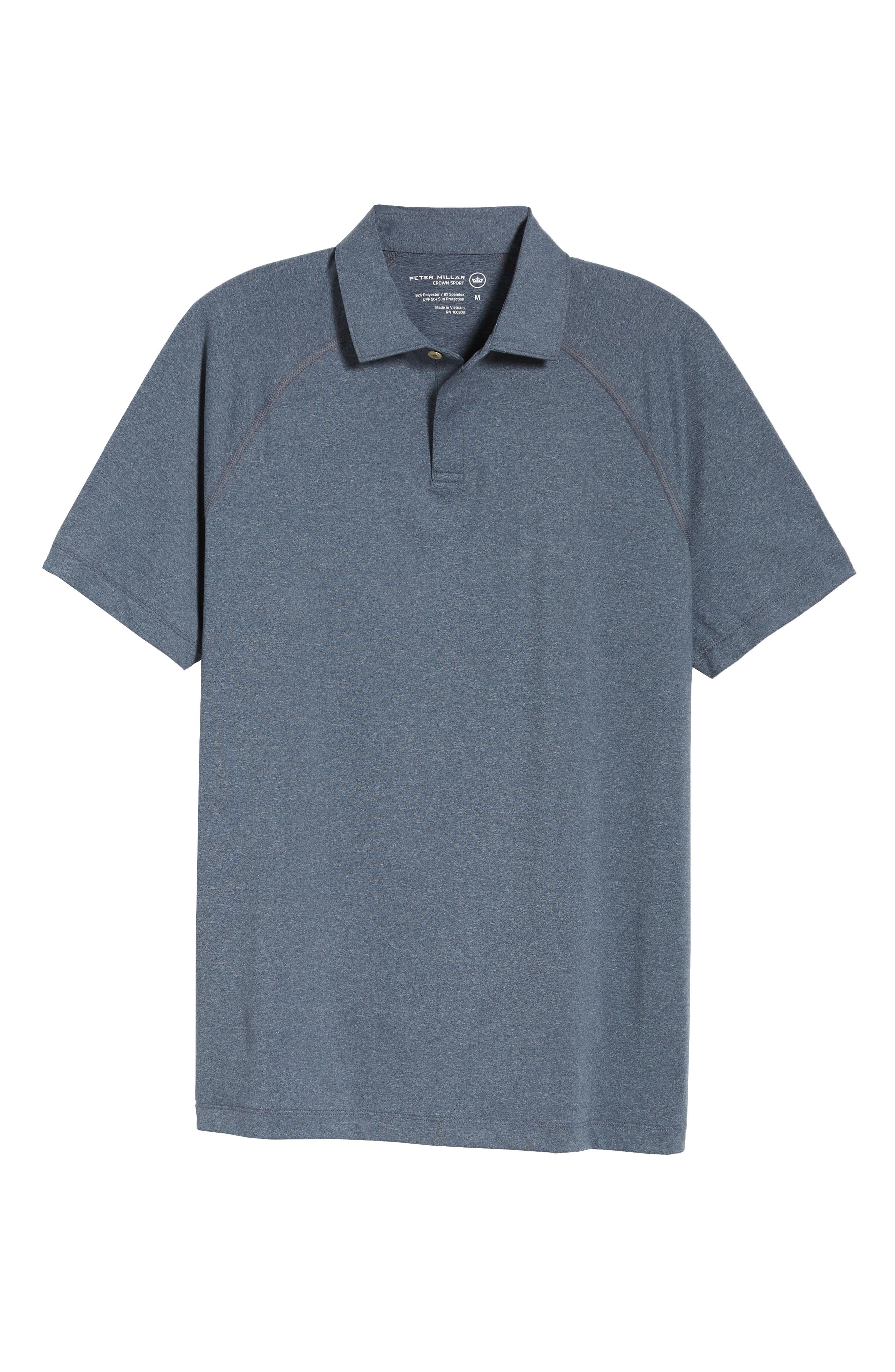 Crown Sport Amsterdam Technical Polo,                             Alternate thumbnail 6, color,                             YANKEE BLUE