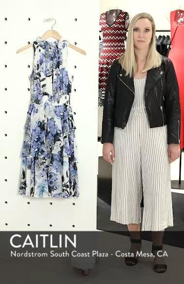 Smocked Waist Ruffle Chiffon Dress, sales video thumbnail