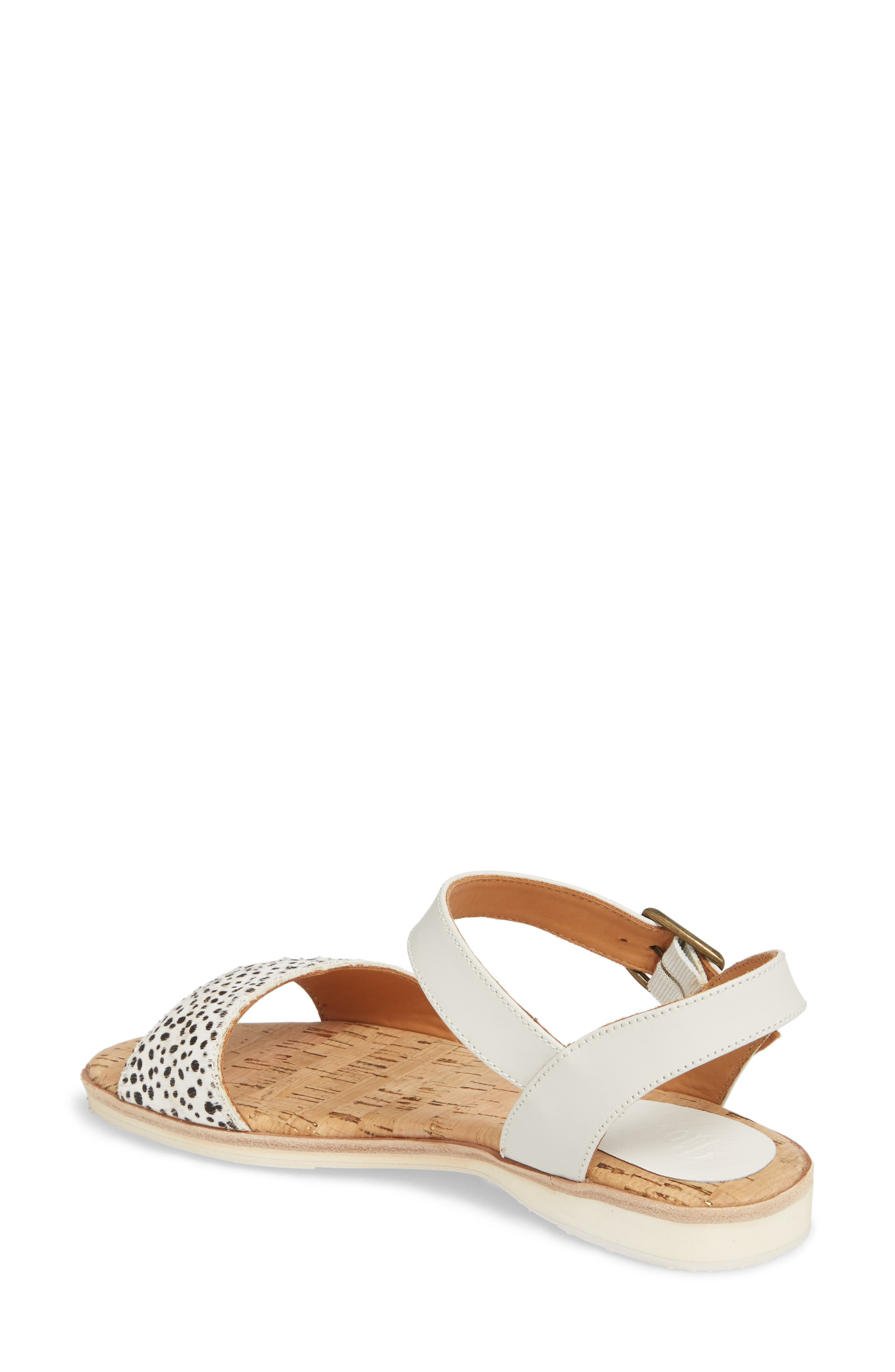 Genuine Calf Hair Sandal,                             Alternate thumbnail 2, color,                             SNOW LEOPARD/ WHITE LEATHER