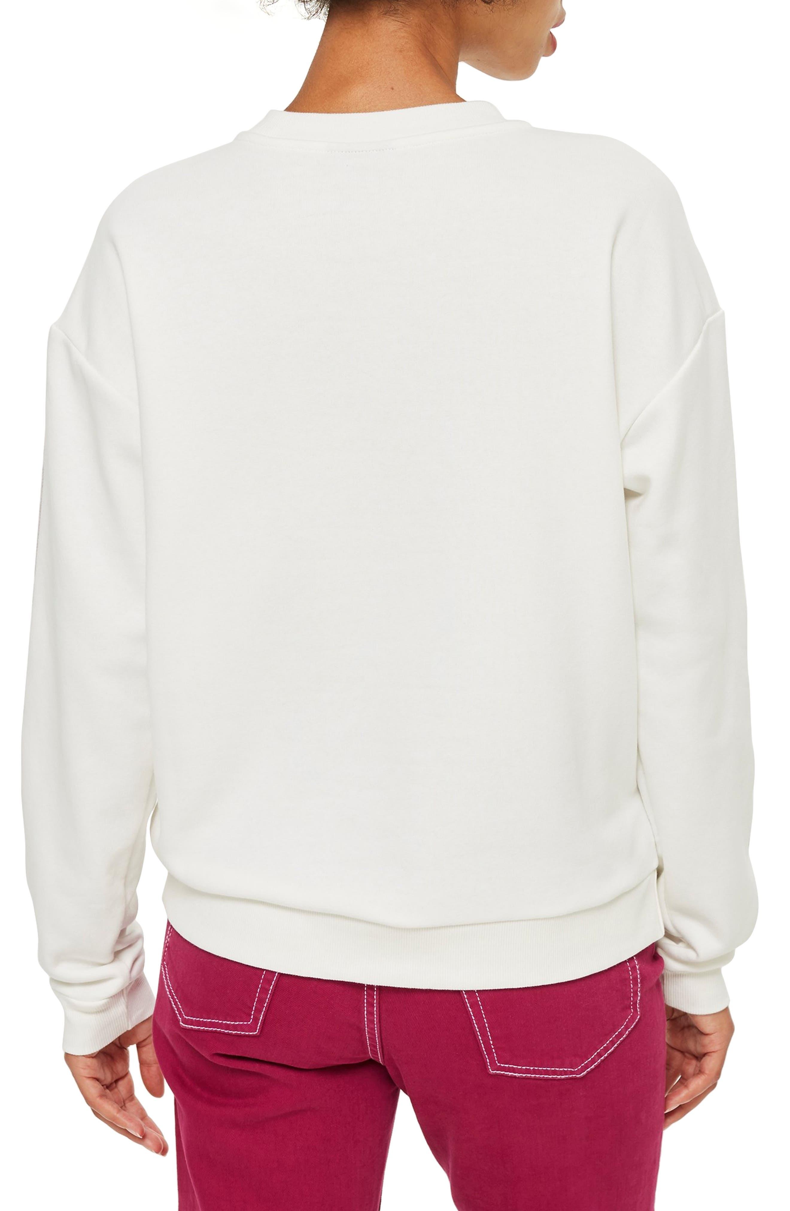 Taped Sleeve Sweatshirt,                             Alternate thumbnail 2, color,                             100